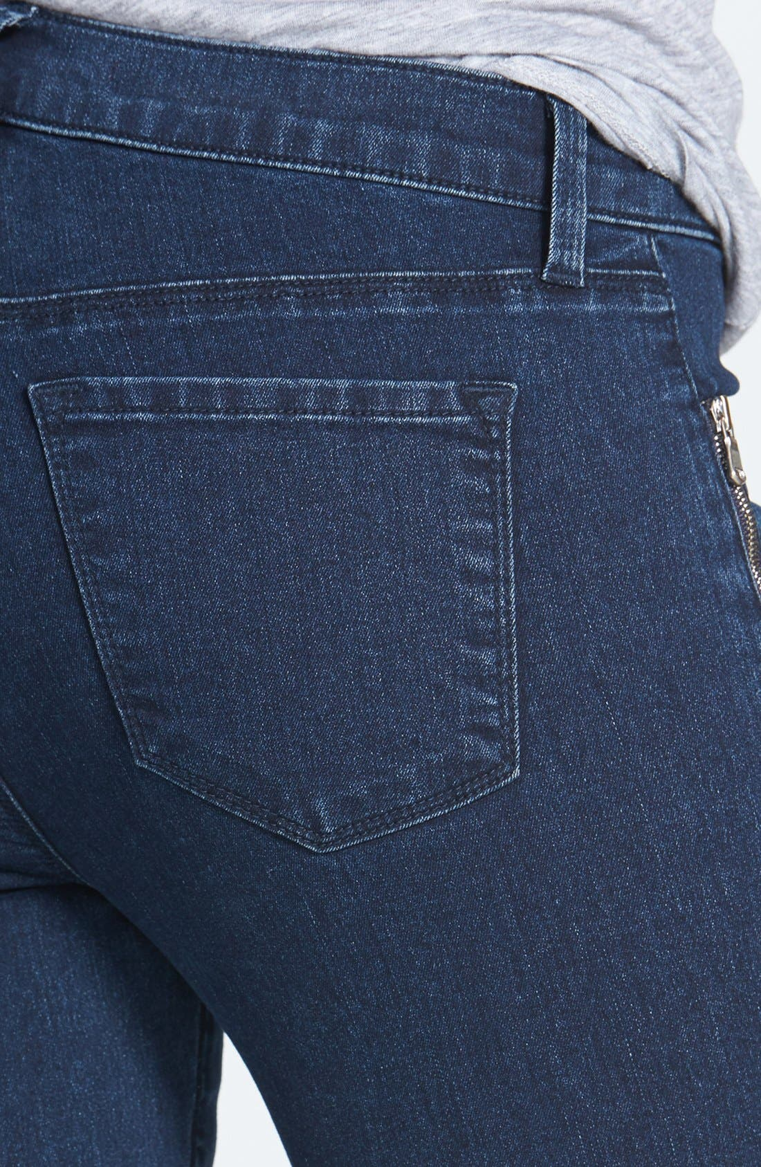 Alternate Image 3  - J Brand 'Tali' Zip Detail Skinny Crop Jeans (Blue Depth)