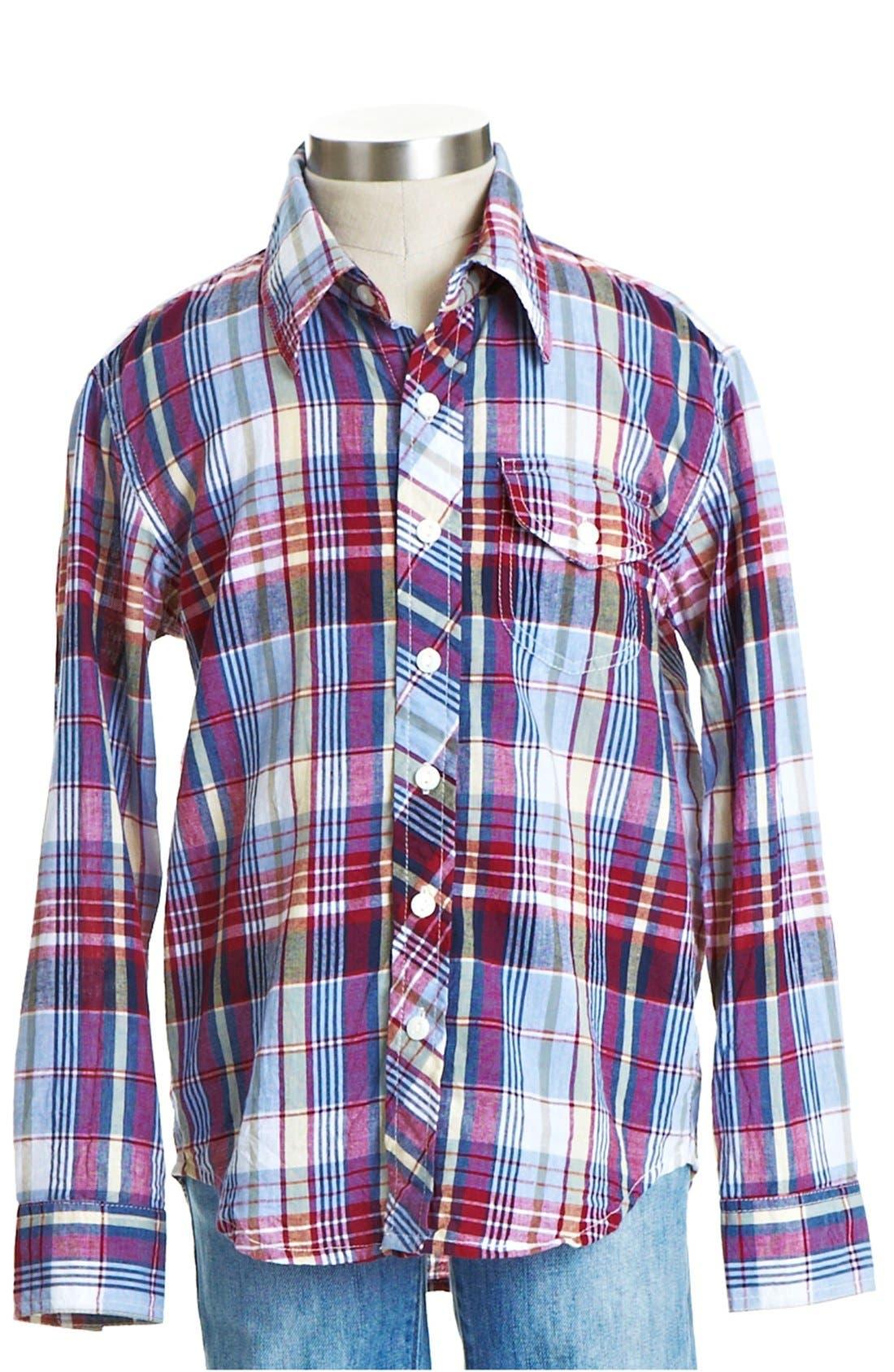 Alternate Image 1 Selected - Peek 'Brunswick' Plaid Shirt (Toddler Boys, Little Boys & Big Boys)
