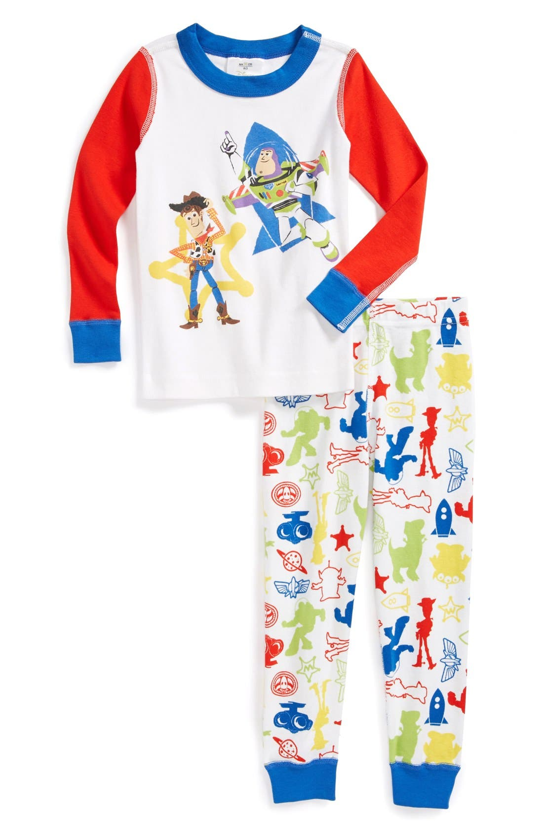 Alternate Image 1 Selected - Hanna Andersson 'Toy Story®' Two-Piece Organic Cotton Fitted Pajamas (Toddler Boys)
