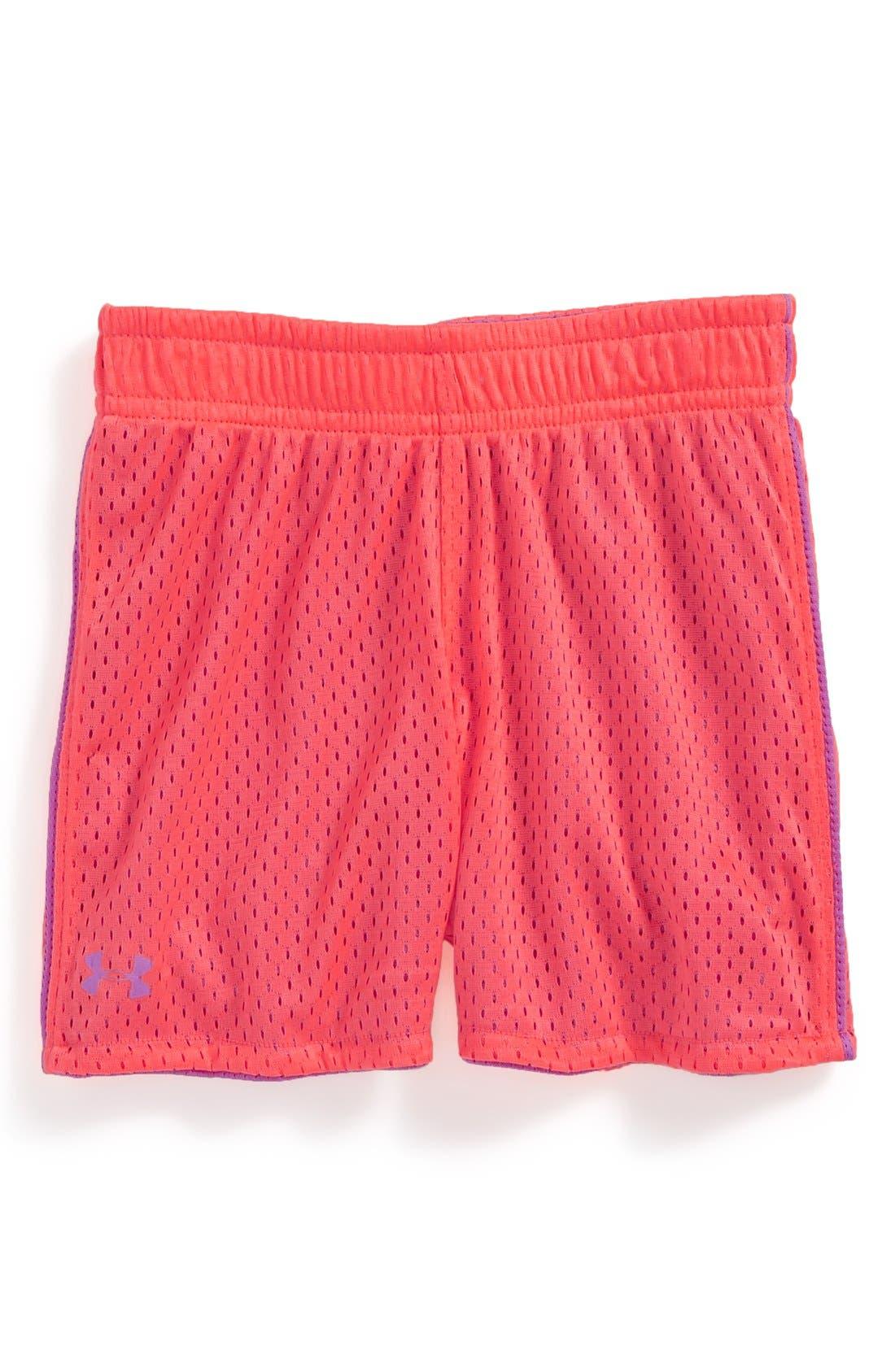 Alternate Image 1 Selected - Under Armour Reversible Mesh Shorts (Toddler Girls)