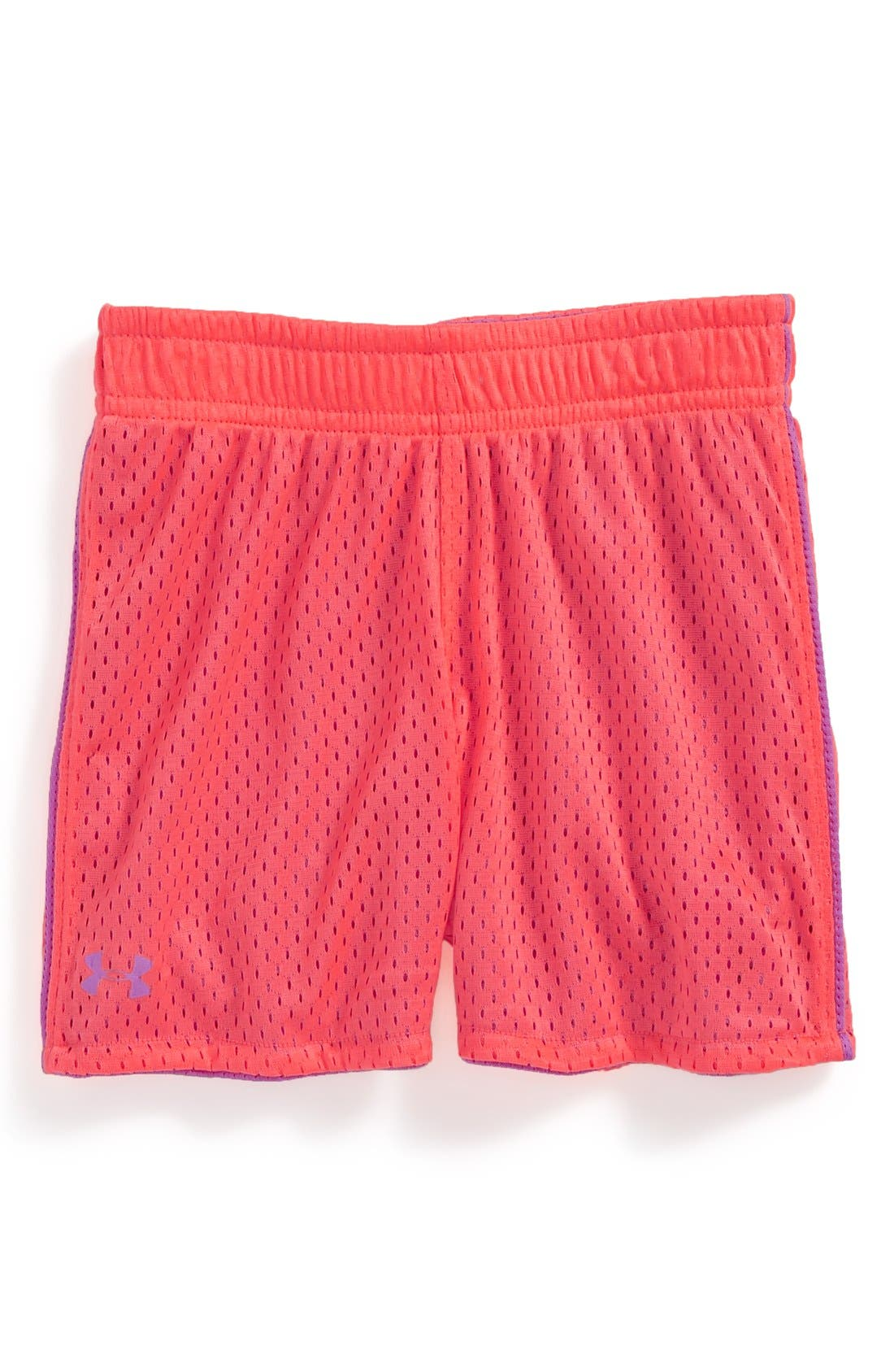 Main Image - Under Armour Reversible Mesh Shorts (Toddler Girls)