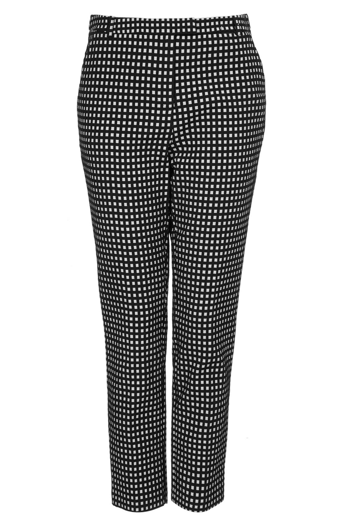 Alternate Image 3  - Topshop Gingham Print Cigarette Pants