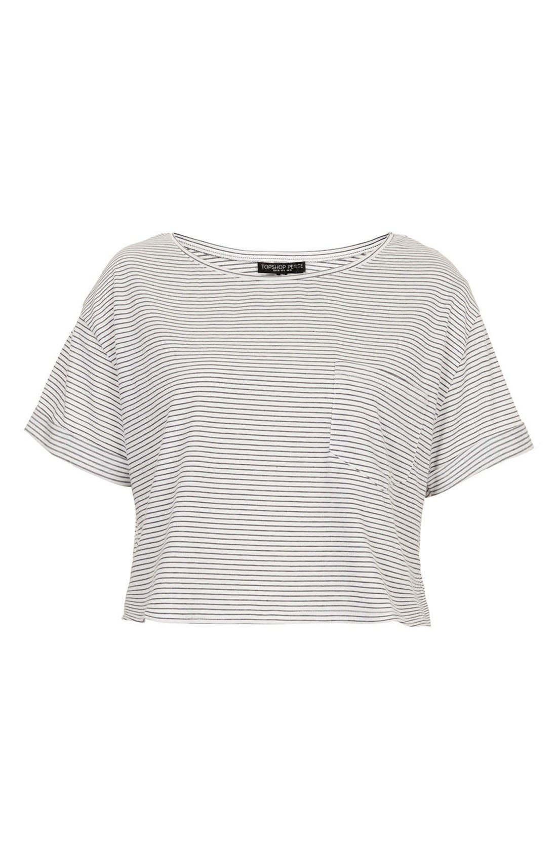 Alternate Image 3  - Topshop Cotton Crop Tee (Petite)