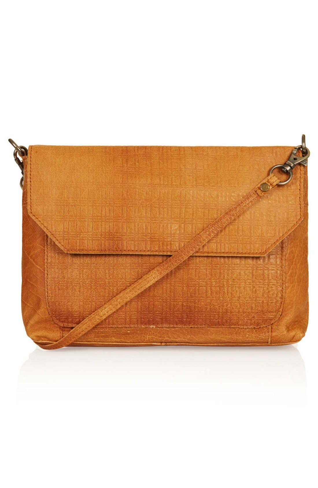 Main Image - Topshop Textured Leather Crossbody Bag