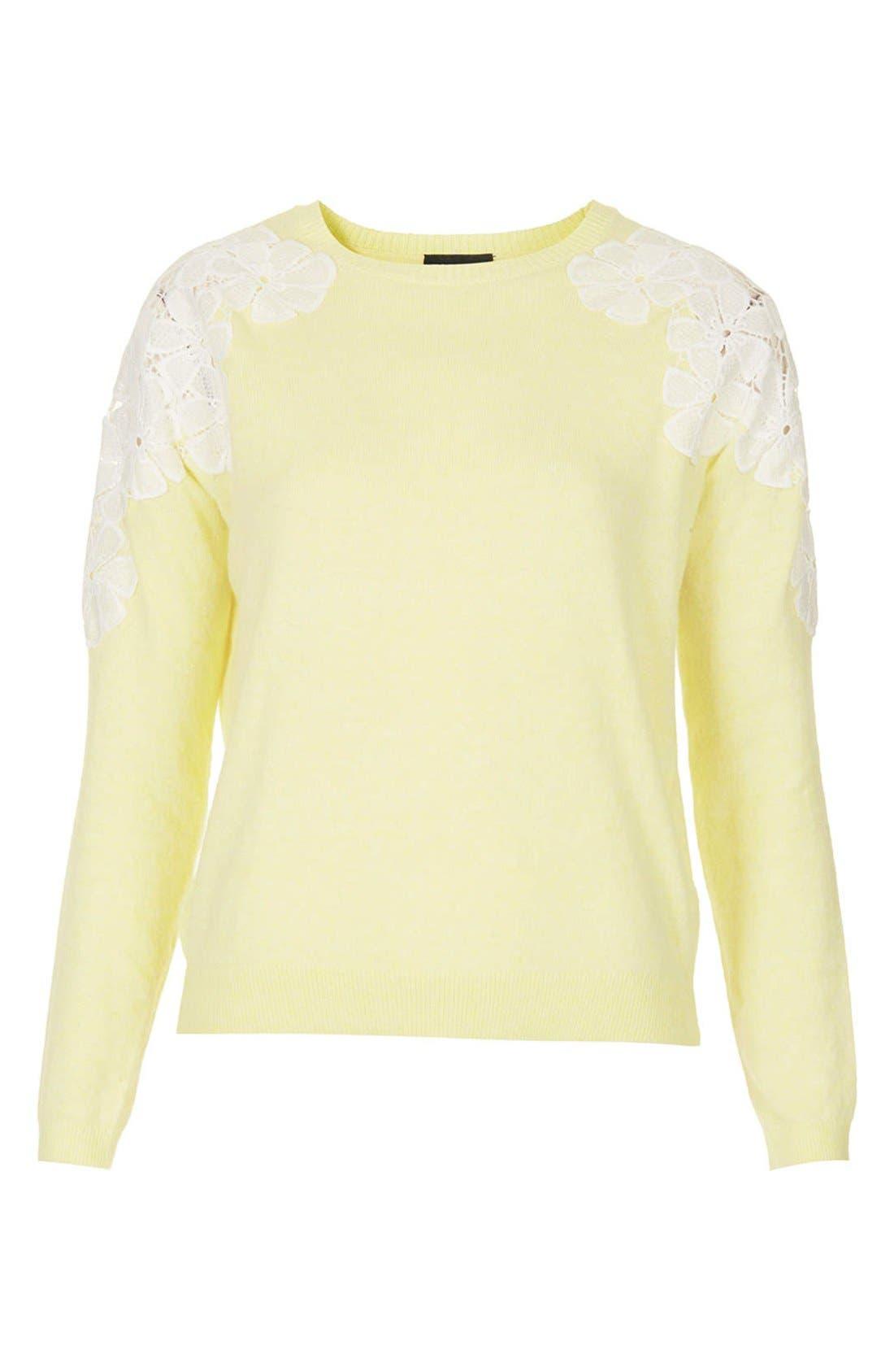 Alternate Image 3  - Topshop Embroidered Shoulder Knit Sweater