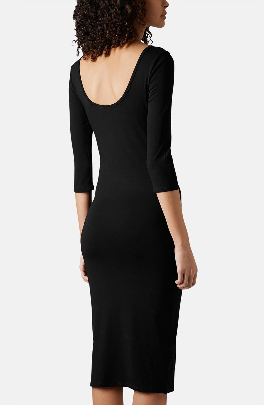 Alternate Image 2  - Topshop Scoop Back Jersey Body-Con Dress
