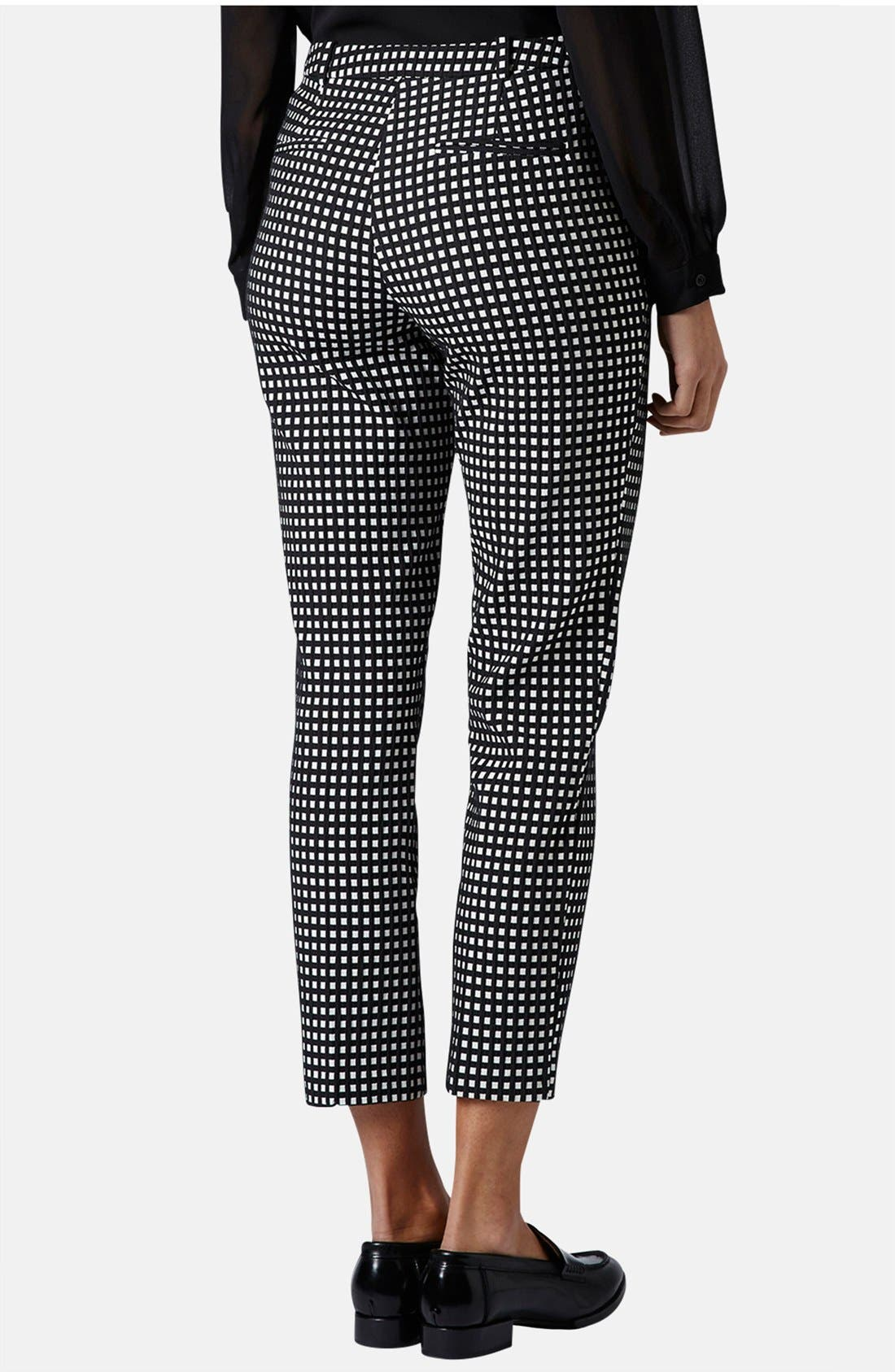 Alternate Image 2  - Topshop Gingham Print Cigarette Pants
