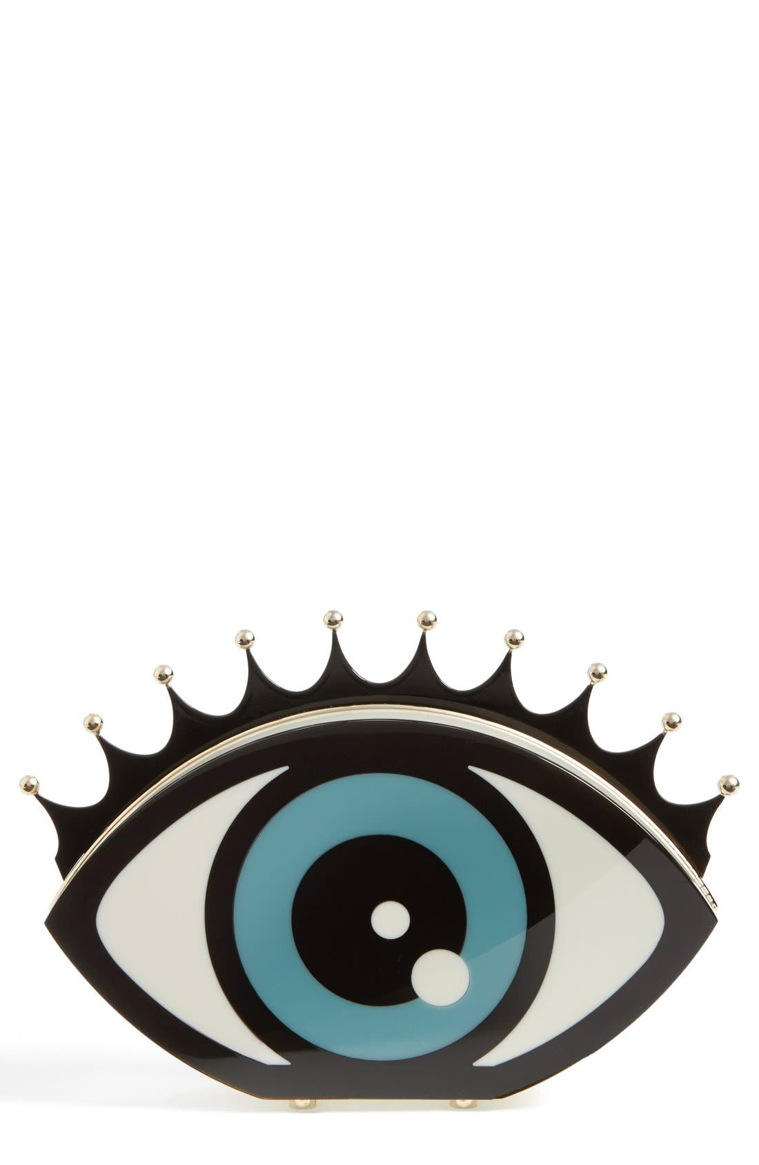 Alternate Image 1 Selected - Charlotte Olympia Eye Shaped Clutch