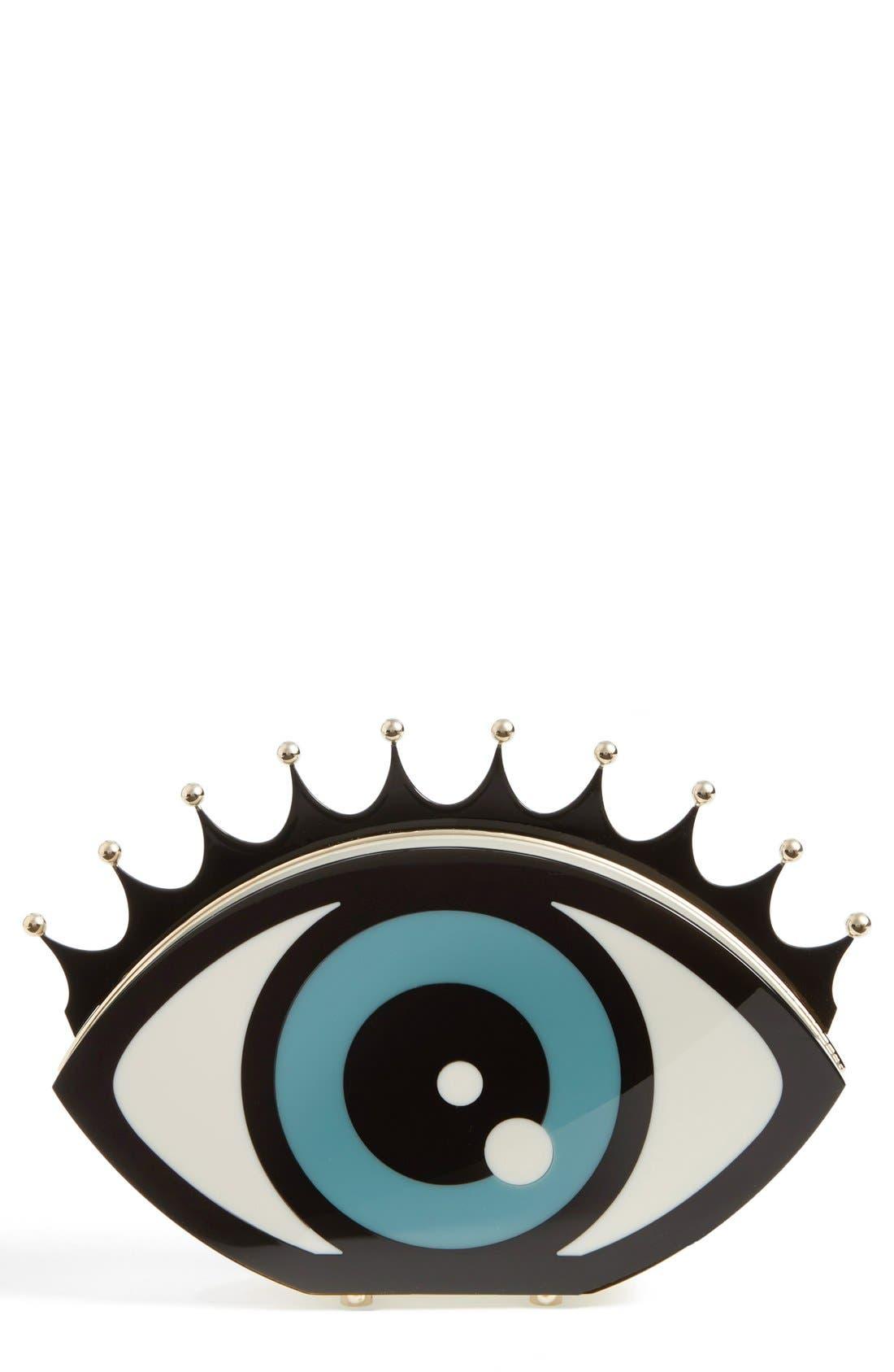 Main Image - Charlotte Olympia Eye Shaped Clutch