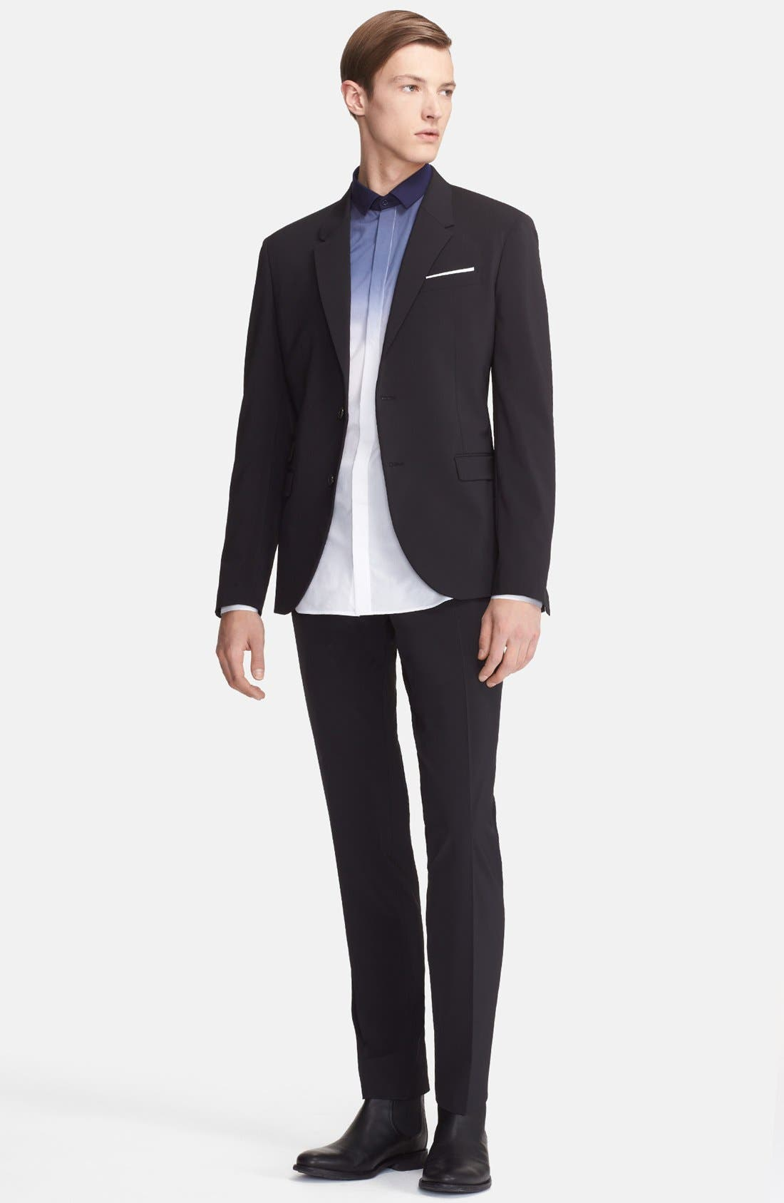 Main Image - Neil Barrett Slim Fit Techno Stretch Suit