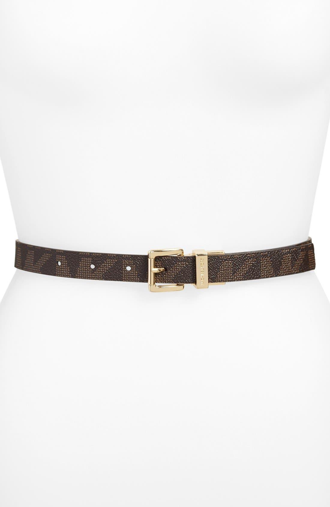 Alternate Image 2  - MICHAEL Michael Kors Reversible Leopard Print Leather Belt