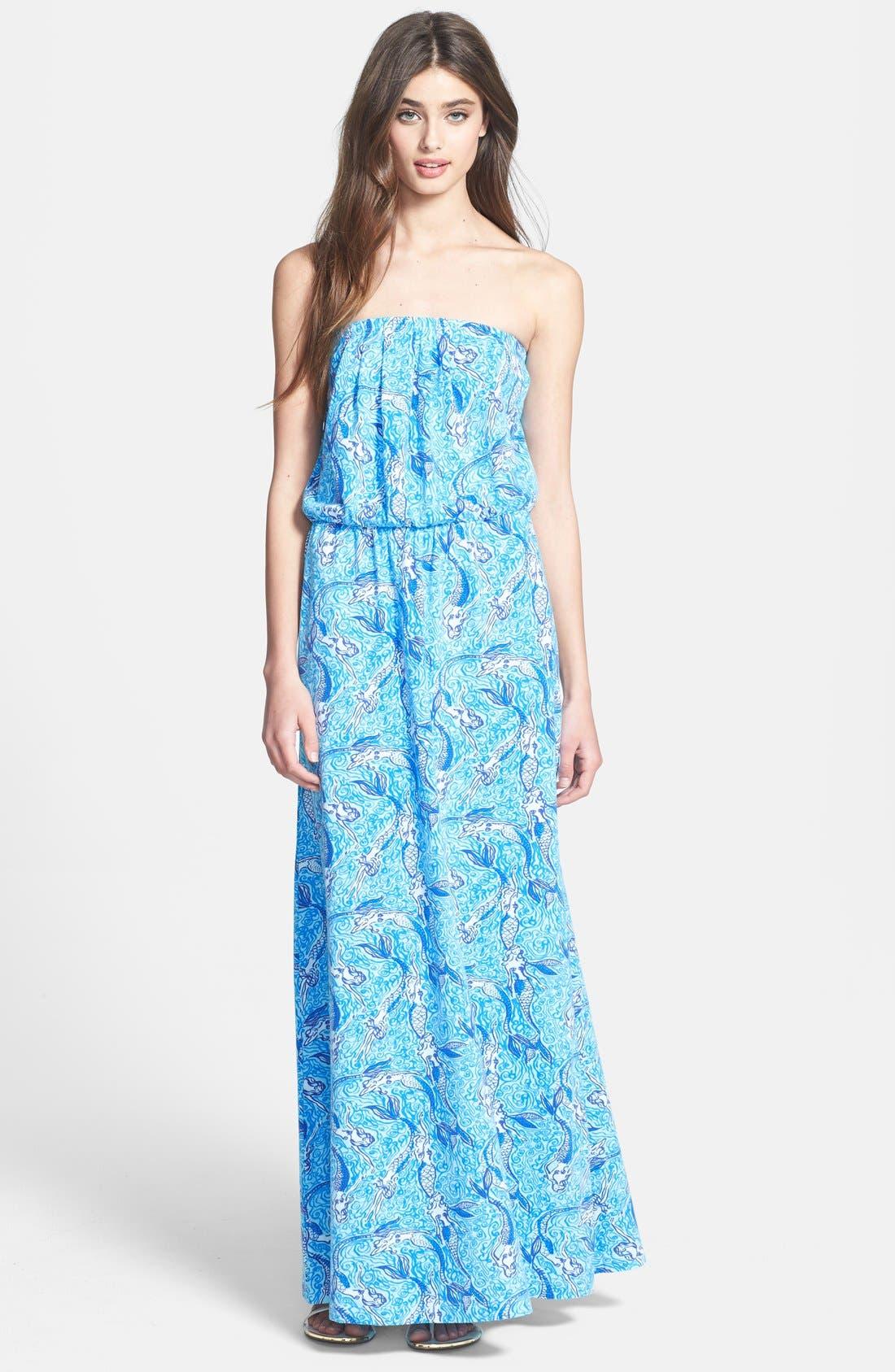 Main Image - Lilly Pulitzer® 'Marlisa' Print Blouson Jersey Maxi Dress