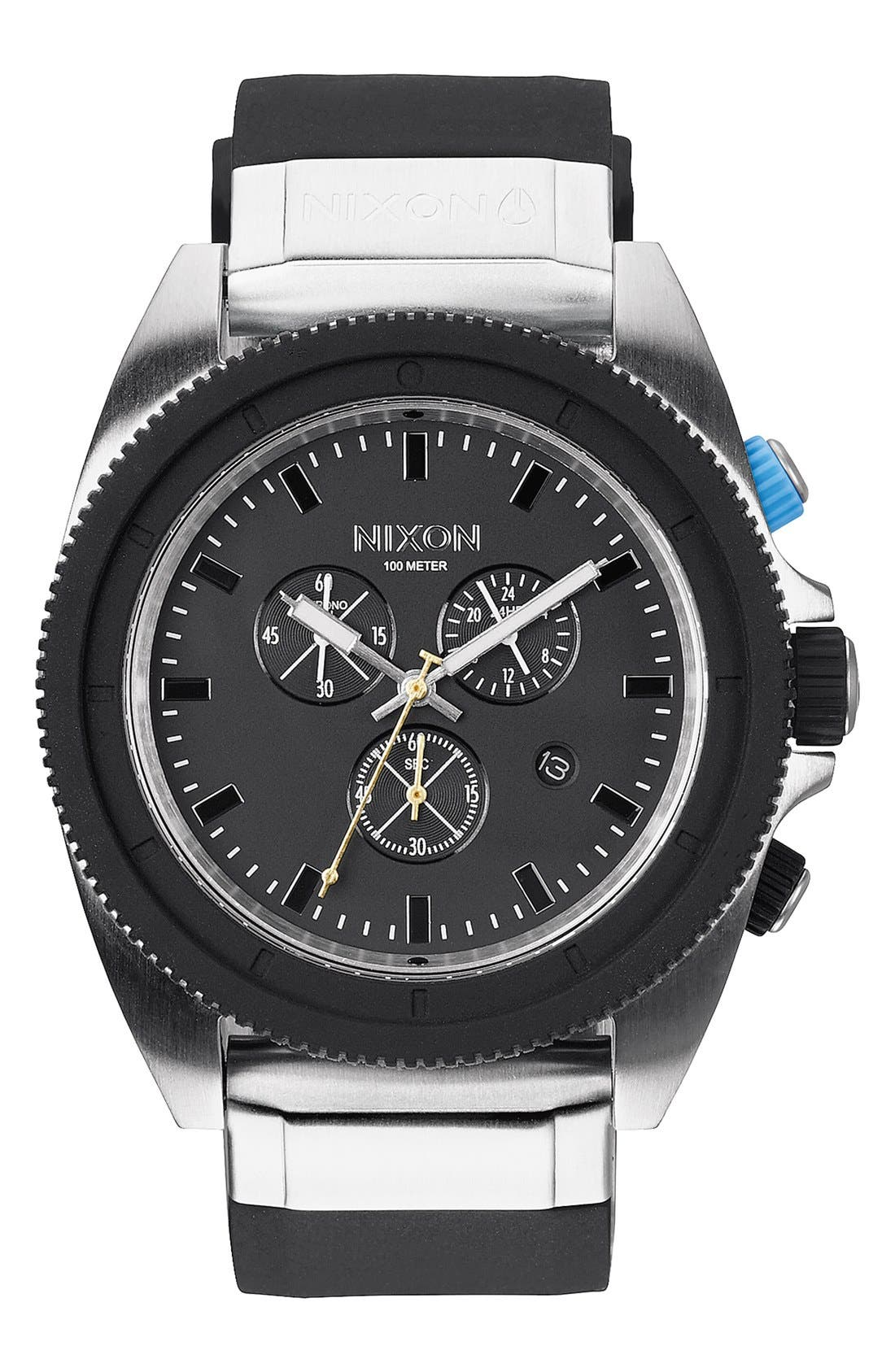 Alternate Image 1 Selected - Nixon 'Rover' Chronograph Strap Watch, 44mm