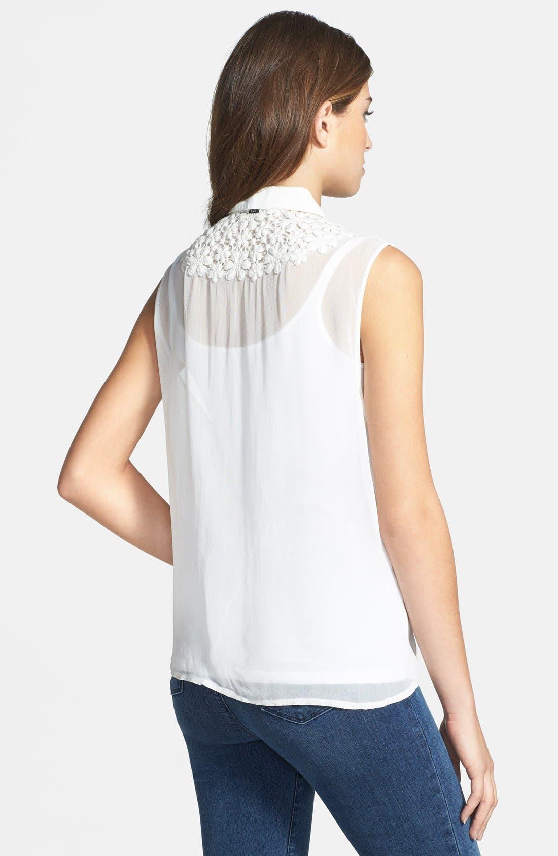 Alternate Image 2  - Dex Embroidered Sleeveless Blouse