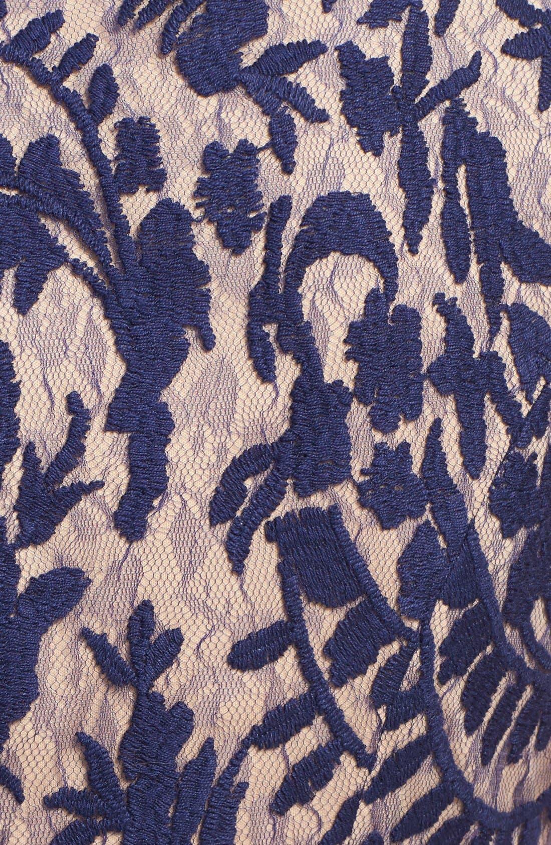Alternate Image 4  - Adrianna Papell Lace Overlay Sheath Dress