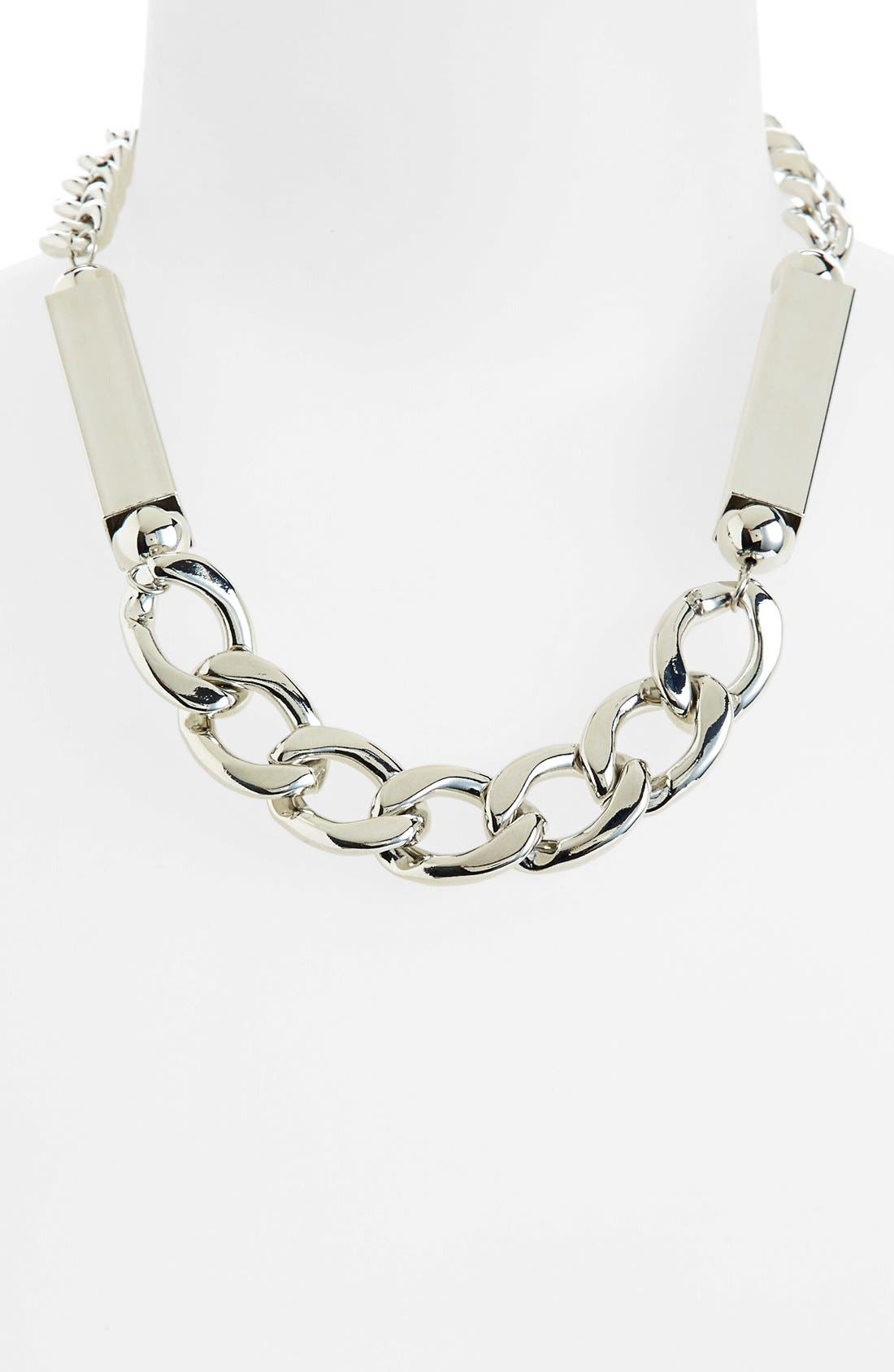 Main Image - Topshop 'Tube And Chain' Necklace