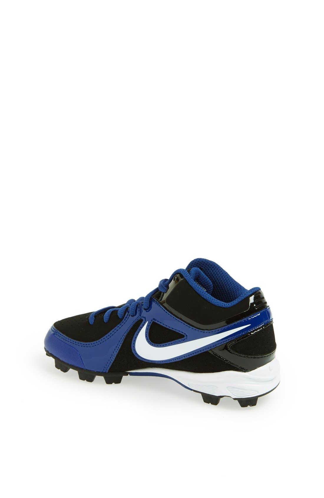 Alternate Image 2  - Nike 'MVP Keystone 3/4' Baseball Cleat (Toddler, Little Kid & Big Kid)