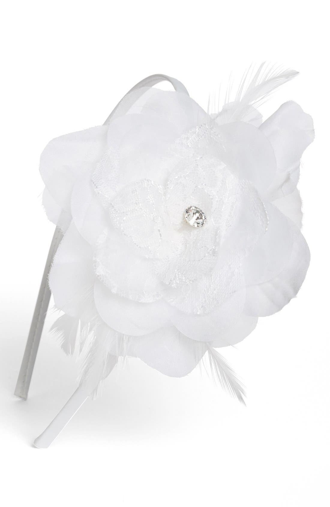 Main Image - Wedding Belles New York Floral Headband (Girls)
