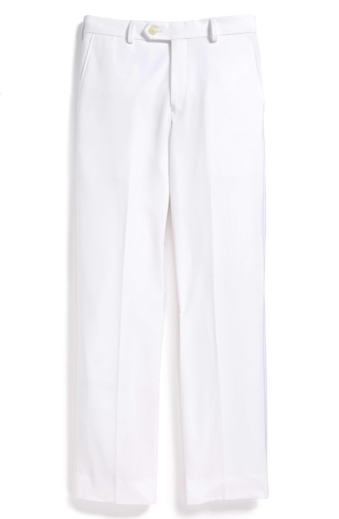 Main Image - Nordstrom Flat Front Trousers (Little Boys, Big Boys & Husky)