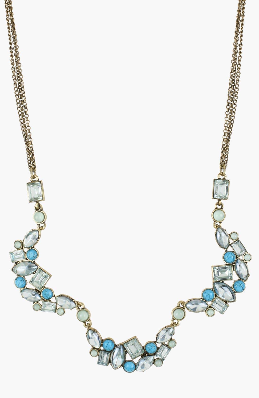 Main Image - Betsey Johnson 'Mint Multi' Frontal Necklace