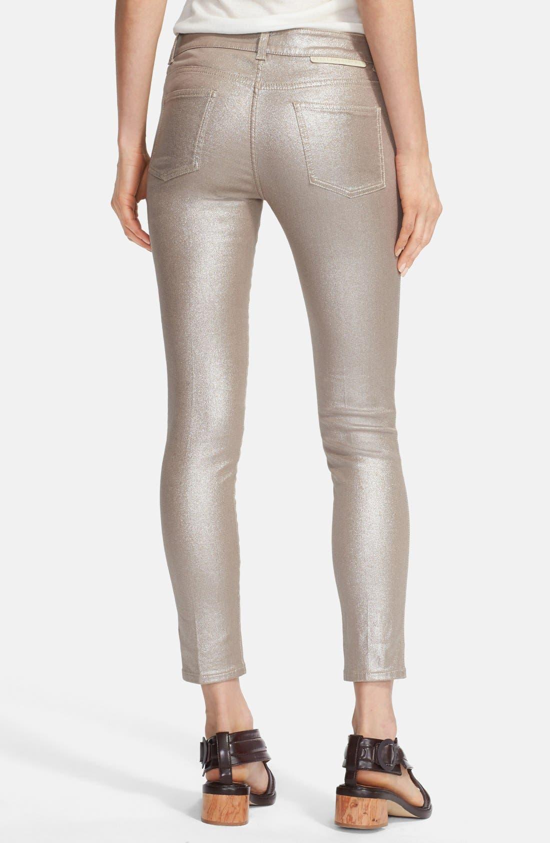 Alternate Image 2  - Stella McCartney Coated Skinny Ankle Jeans