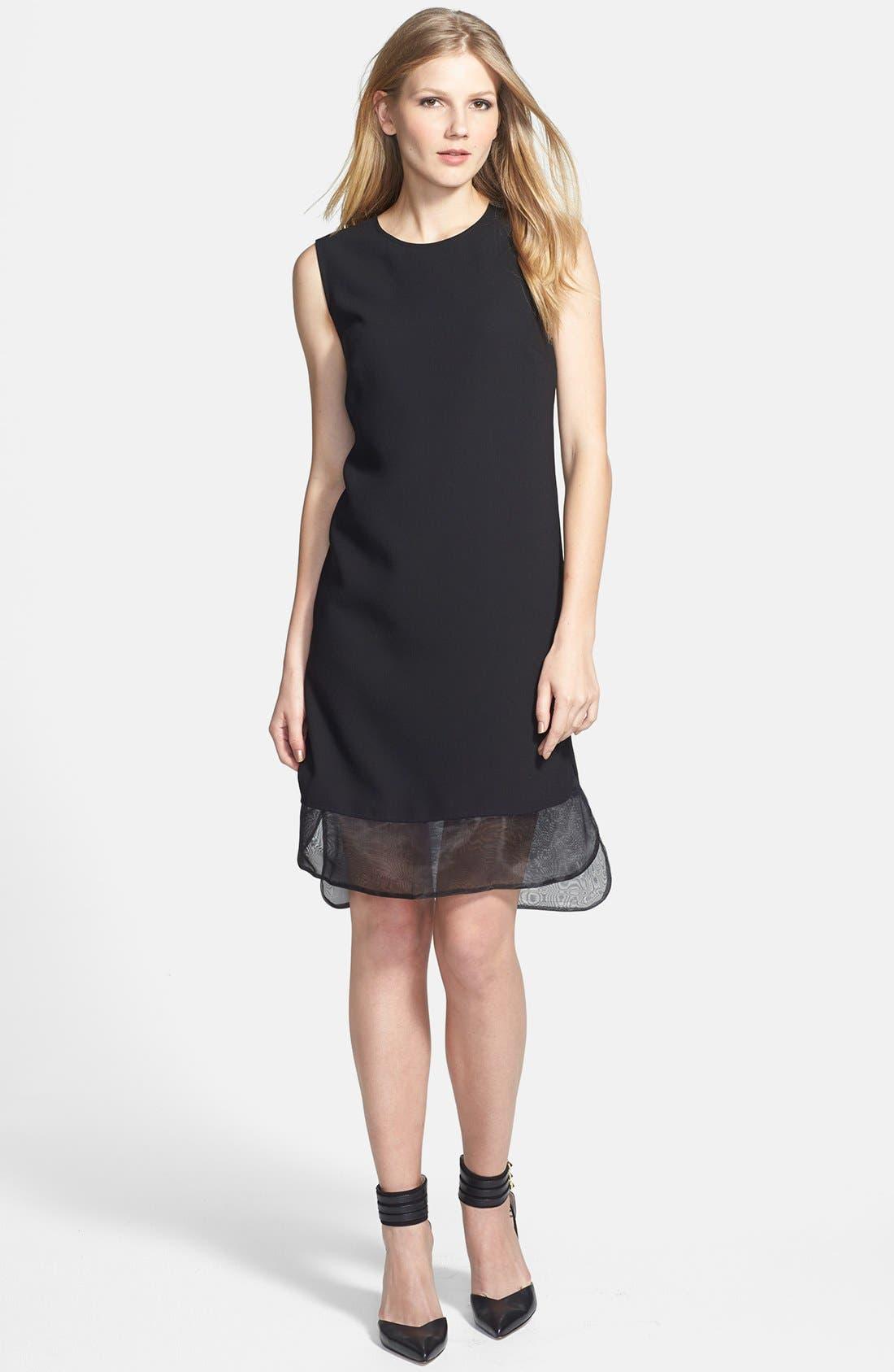 Alternate Image 1 Selected - Vince Camuto Organza Trim Sheath Dress
