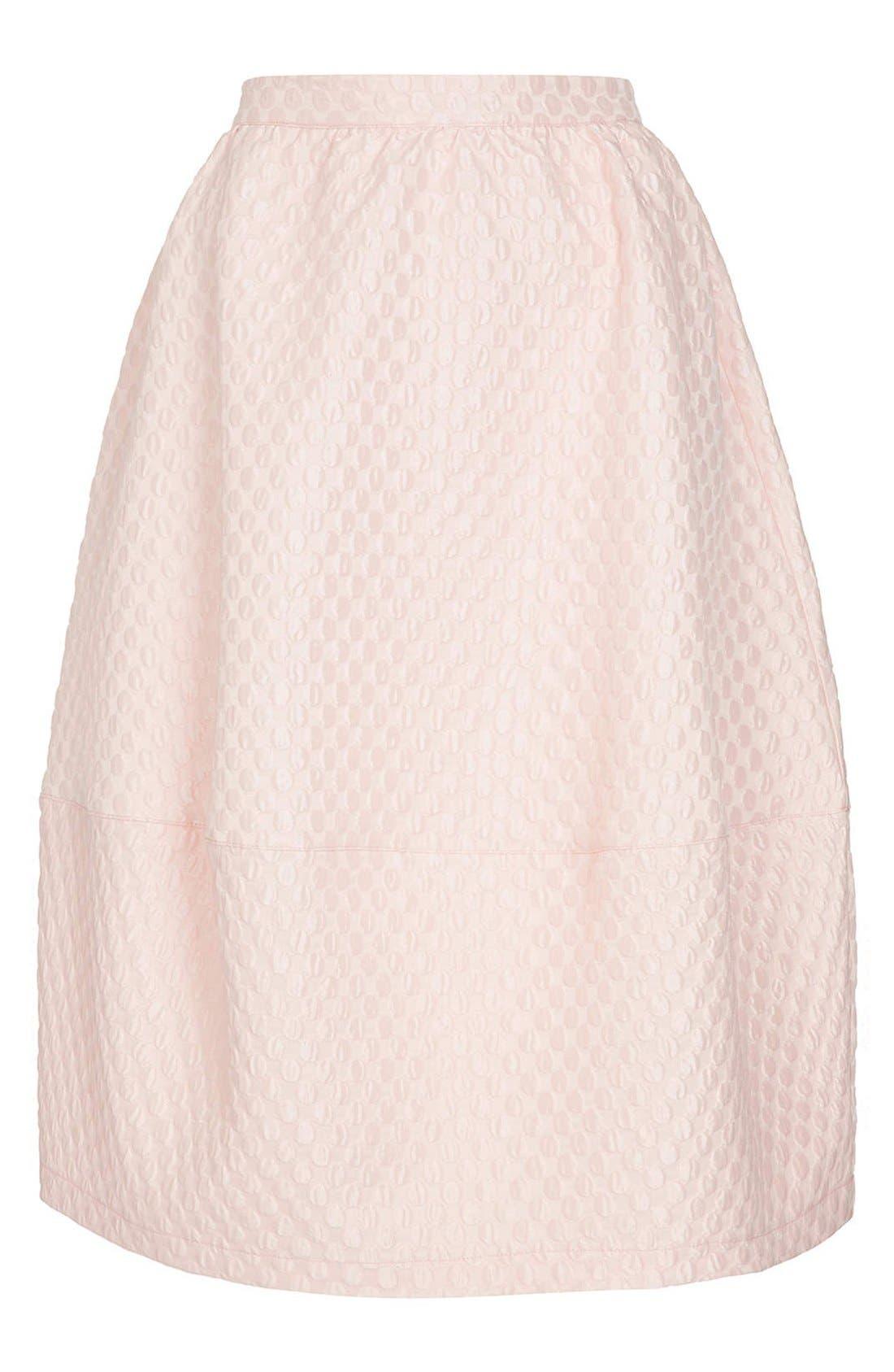 Alternate Image 4  - Topshop Bubble Jacquard Midi Skirt