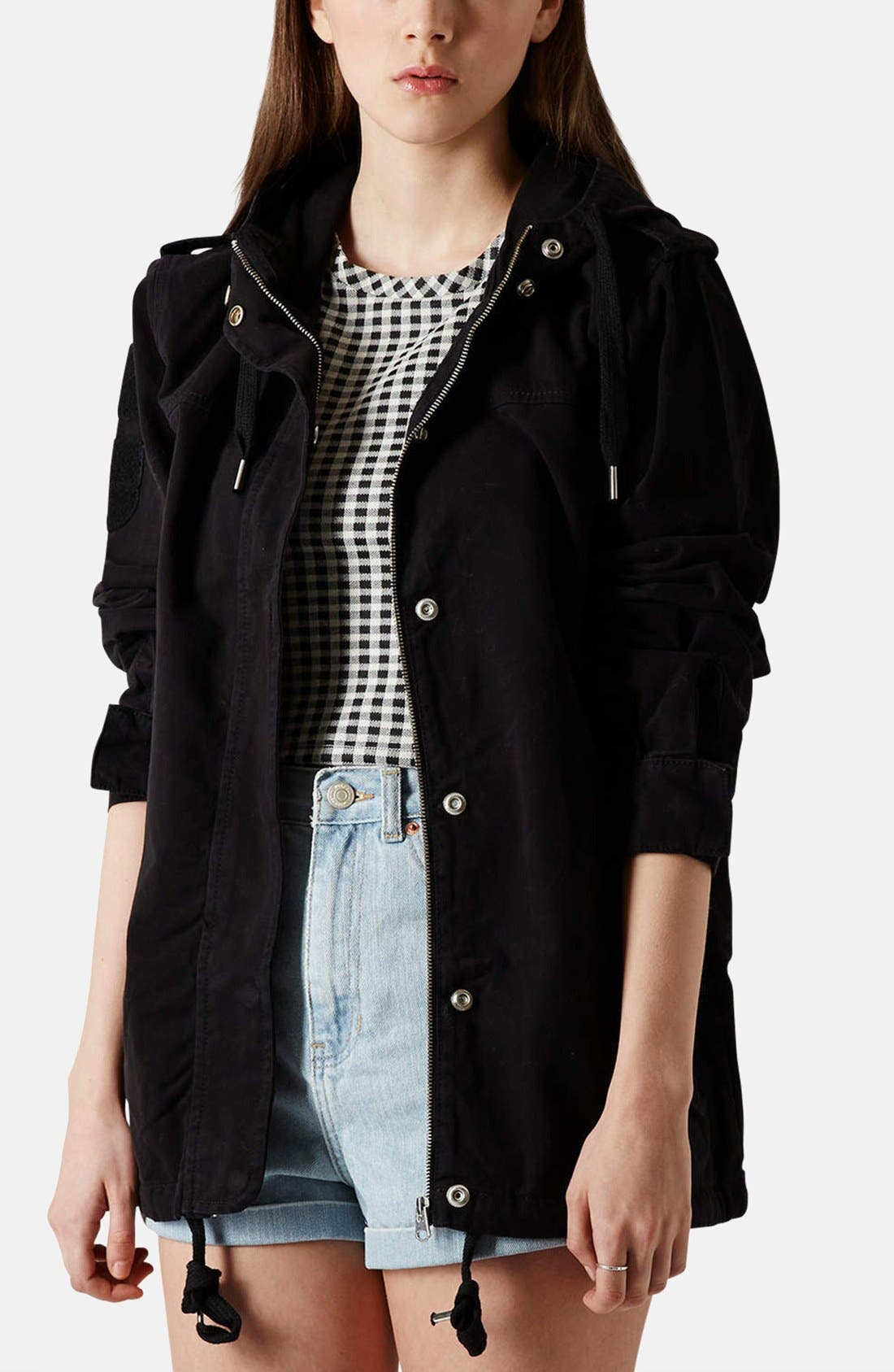 Alternate Image 1 Selected - Topshop 'Ryan' Lightweight Cotton Parka