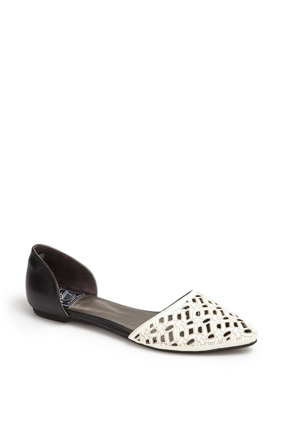 Alternate Image 1 Selected - Jeffrey Campbell 'In Love' Laser Cut d'Orsay Flat