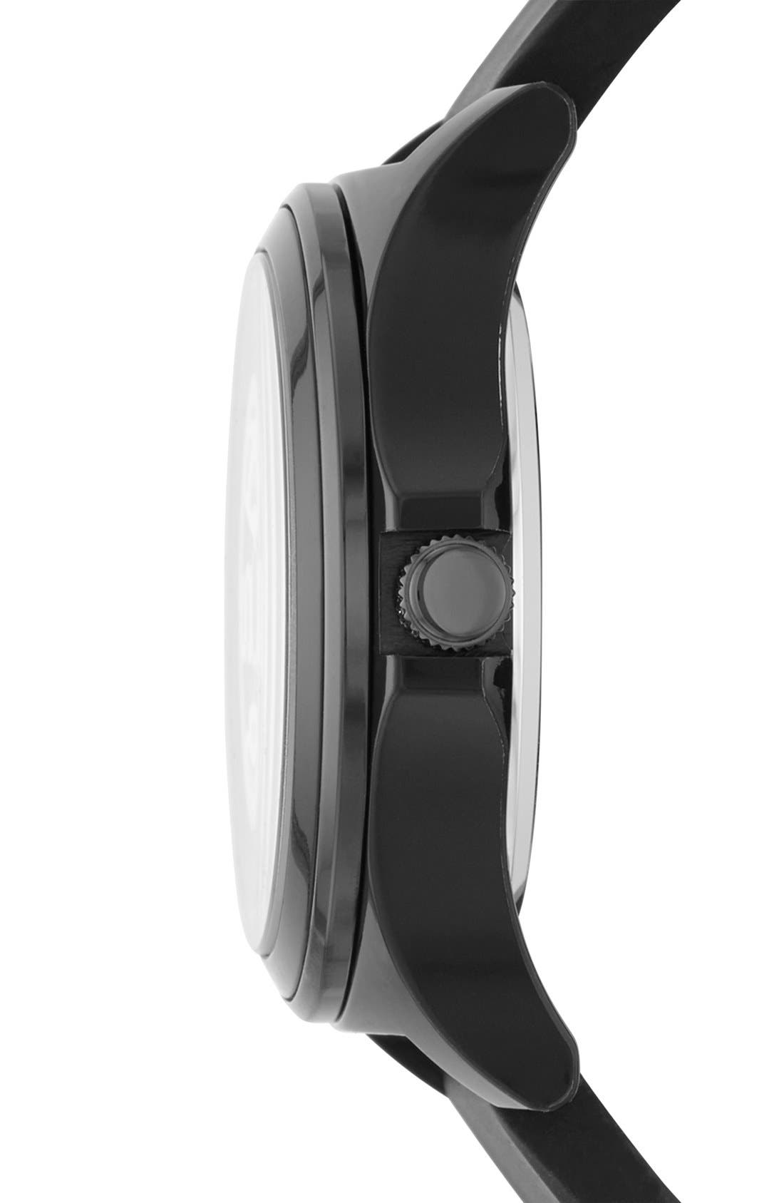 Alternate Image 3  - MARC JACOBS 'Henry Skeleton' Silicone Strap Watch, 41mm