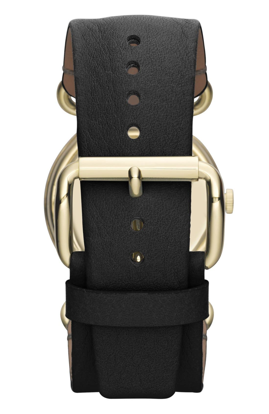 Alternate Image 2  - MARC JACOBS 'Molly' Leather Strap Watch, 36mm