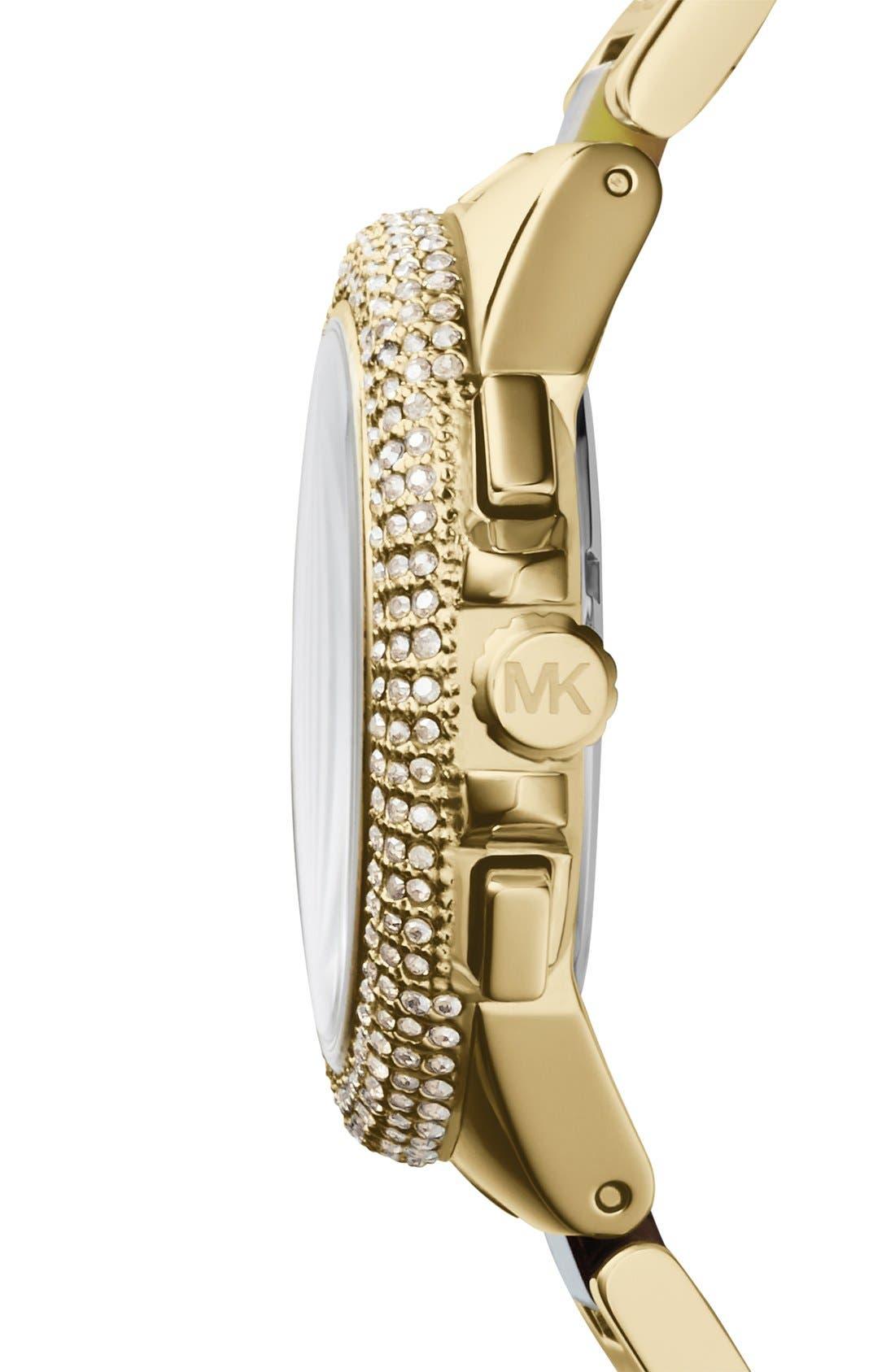 Alternate Image 3  - Michael Kors 'Camille' Crystal Bezel Chronograph Bracelet Watch, 43mm