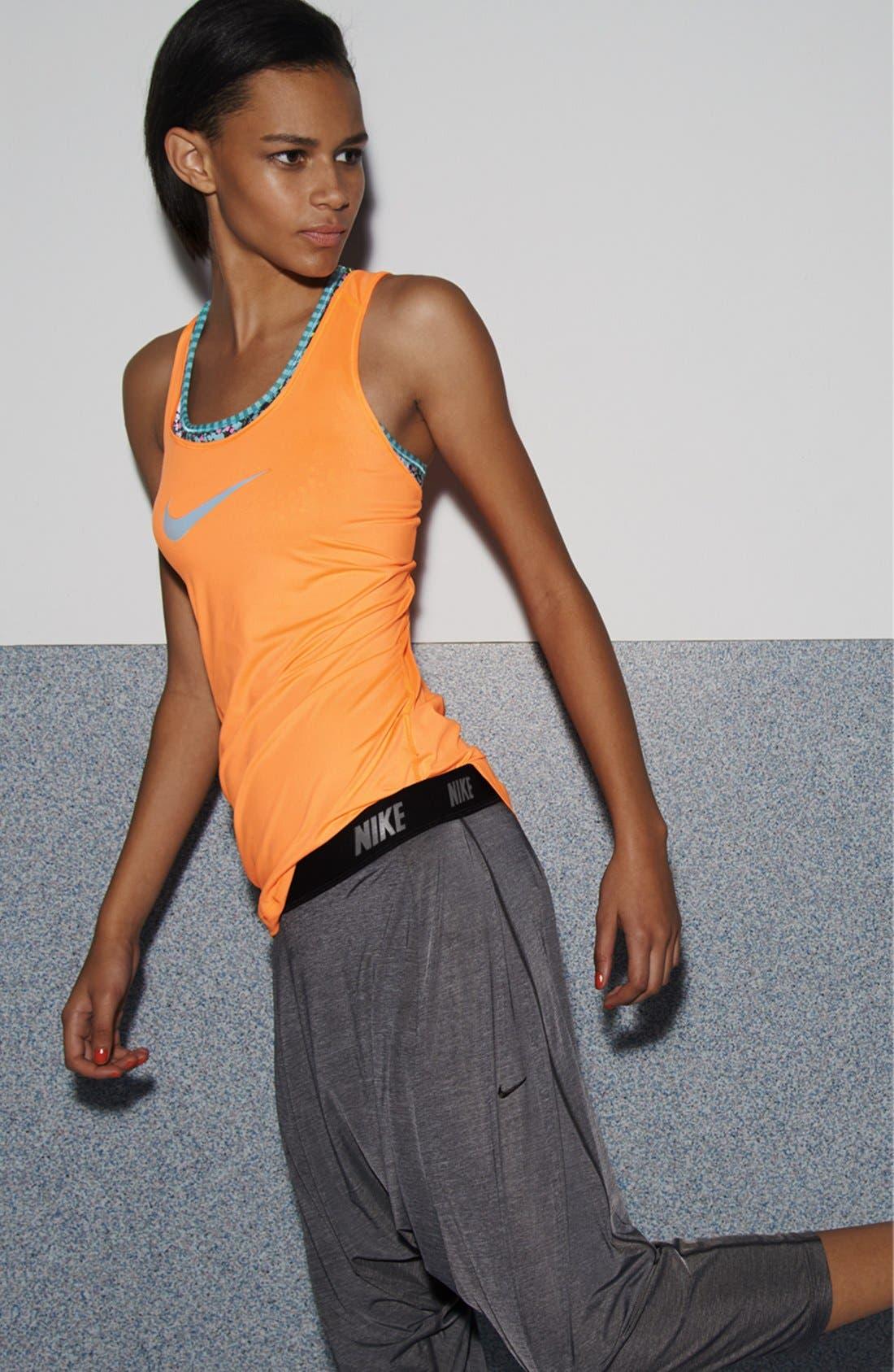 Main Image - Nike Tank, Bra & Harem Capri Pants