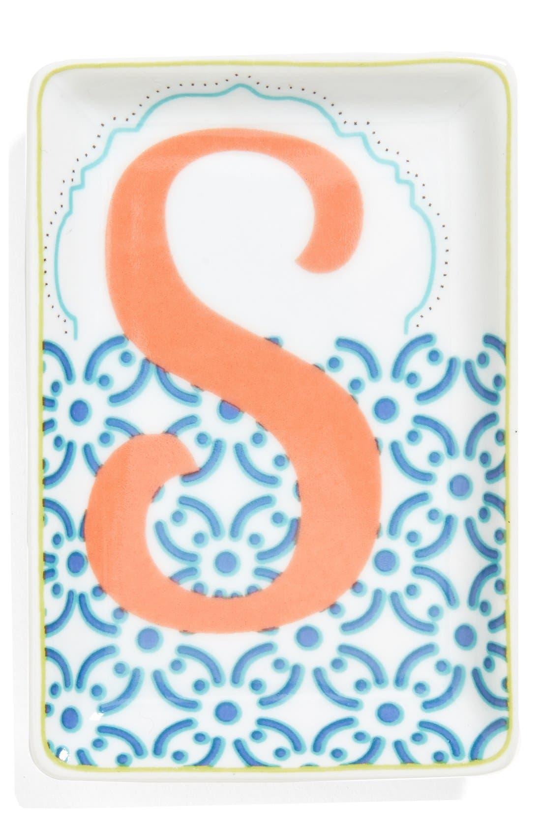 Alternate Image 1 Selected - Rosanna 'Letterpress' Personalized Porcelain Tray