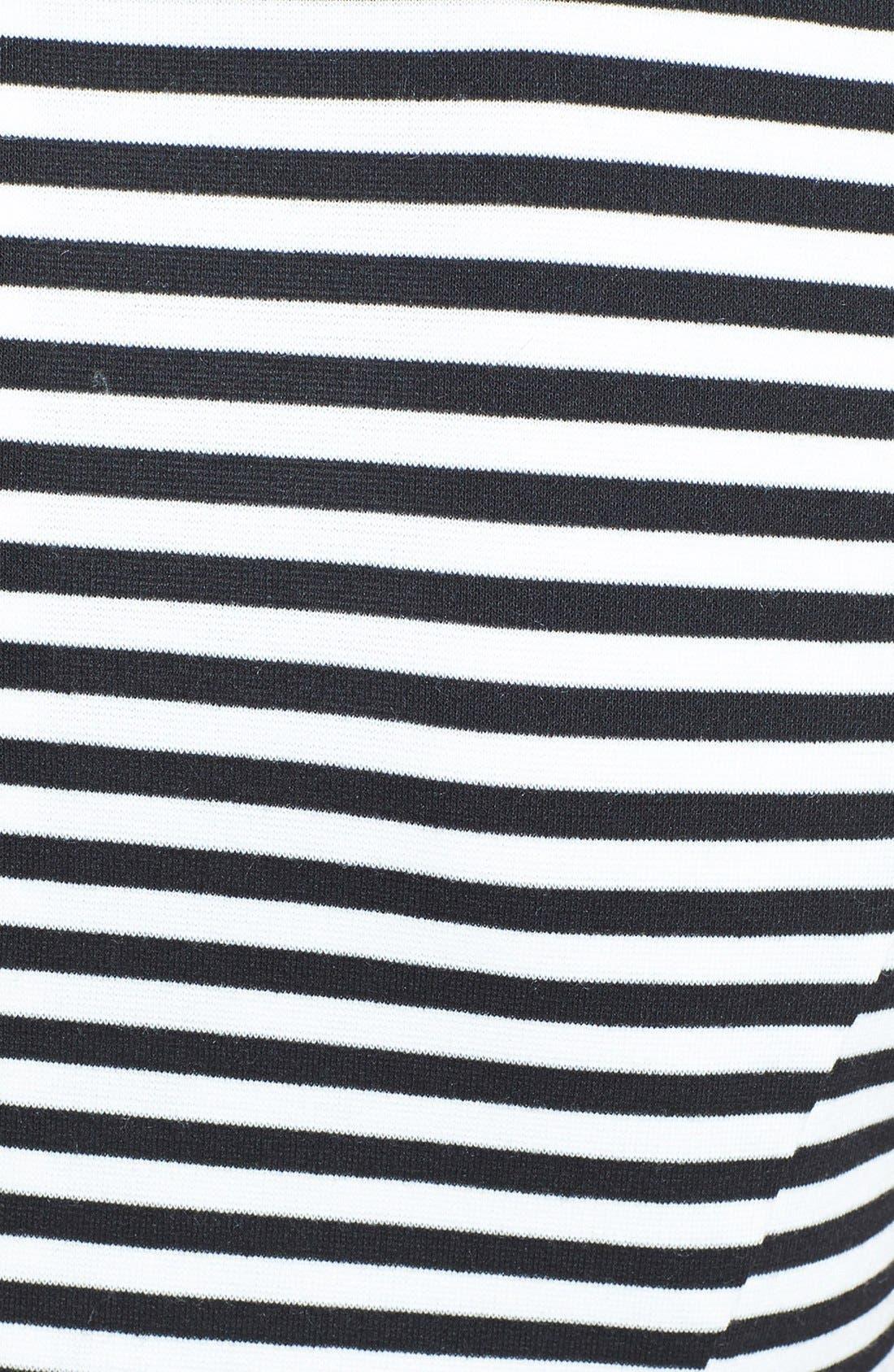 Alternate Image 3  - Isaac Mizrahi New York Stripe Sleeveless Ponte Knit Sheath Dress