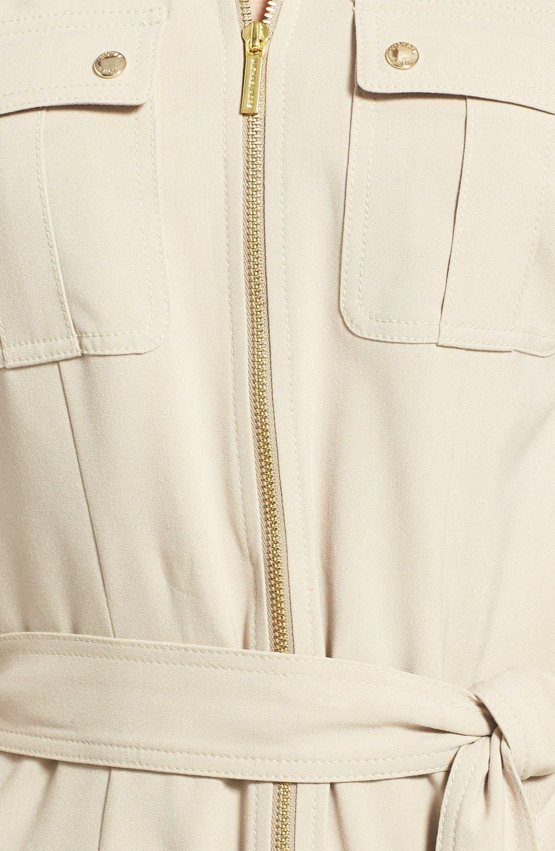 Alternate Image 3  - MICHAEL Michael Kors Roll Sleeve Belted Shirtdress (Regular & Petite)