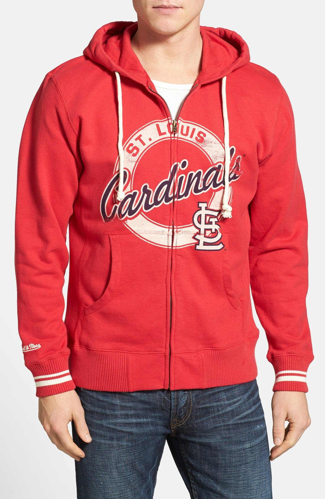 Alternate Image 1 Selected - Mitchell & Ness 'St. Louis Cardinals' Full Zip Hoodie