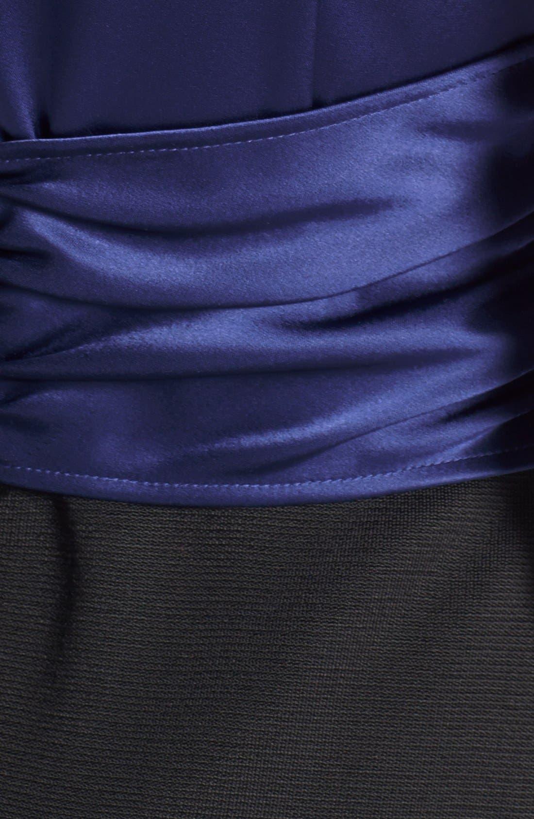 Alternate Image 3  - St. John Collection Embellished Liquid Satin & Milano Knit Dress