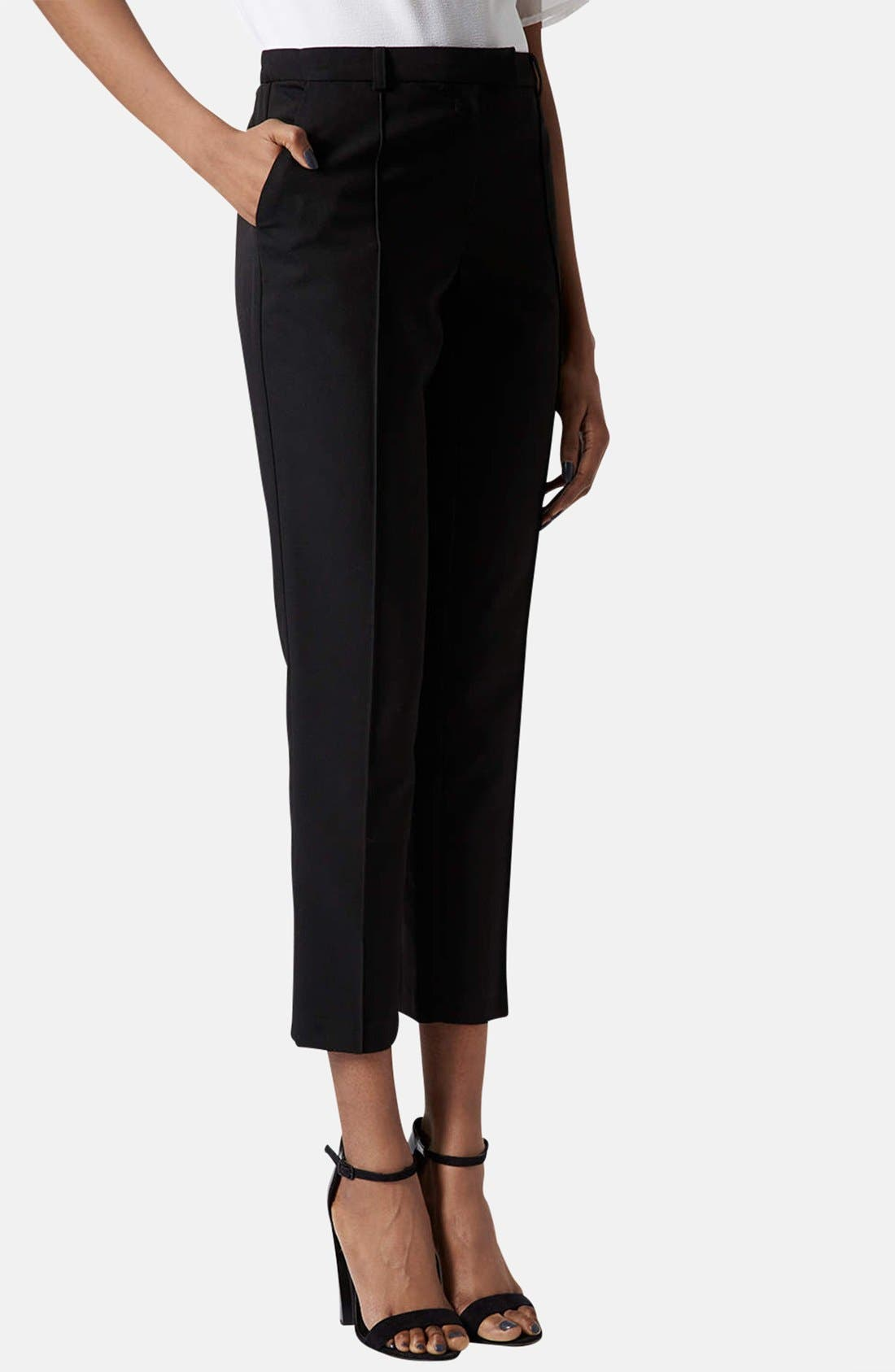 Main Image - Topshop Crop Cigarette Pants (Regular & Short)