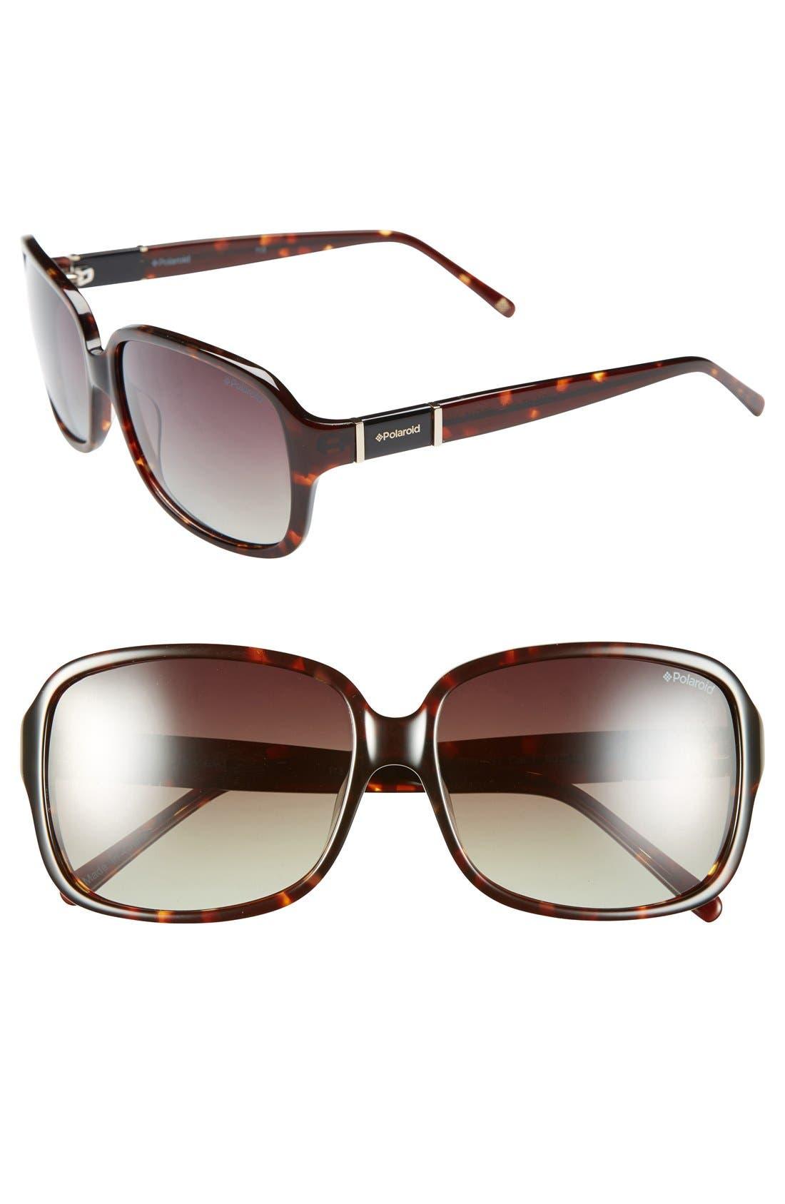 Alternate Image 1 Selected - Polaroid Eyewear 60mm Polarized Sunglasses