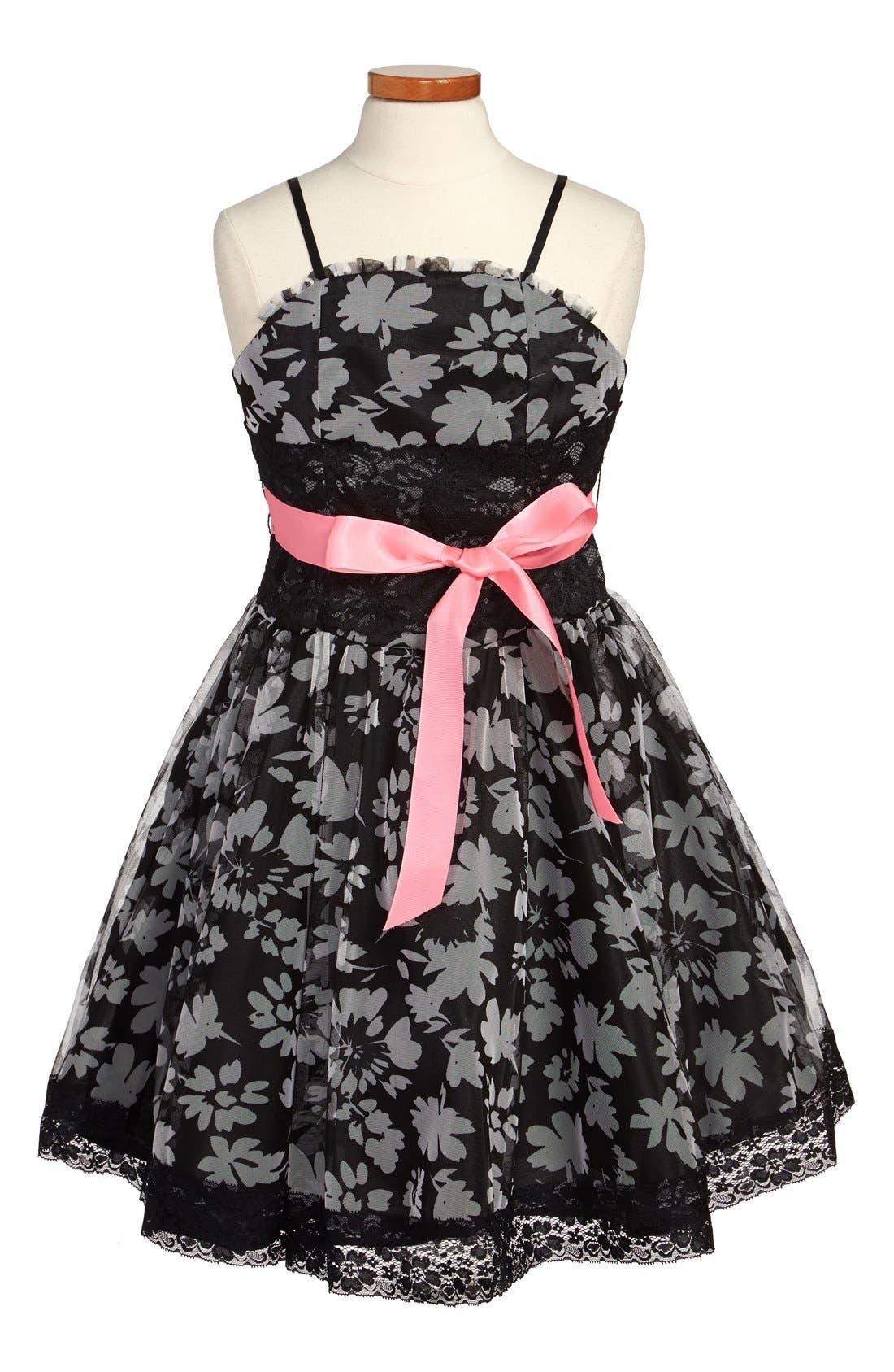 Main Image - Dorissa 'Peggy' Floral Print Dress (Big Girls)