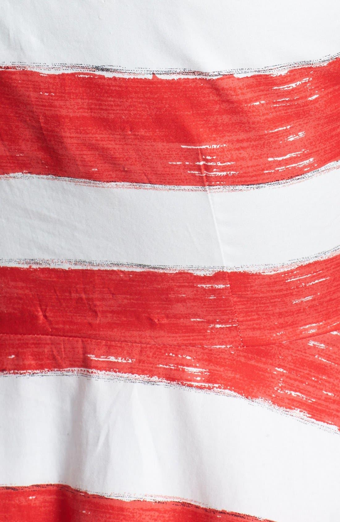 Alternate Image 4  - BB Dakota Stripe Cotton Fit & Flare Dress