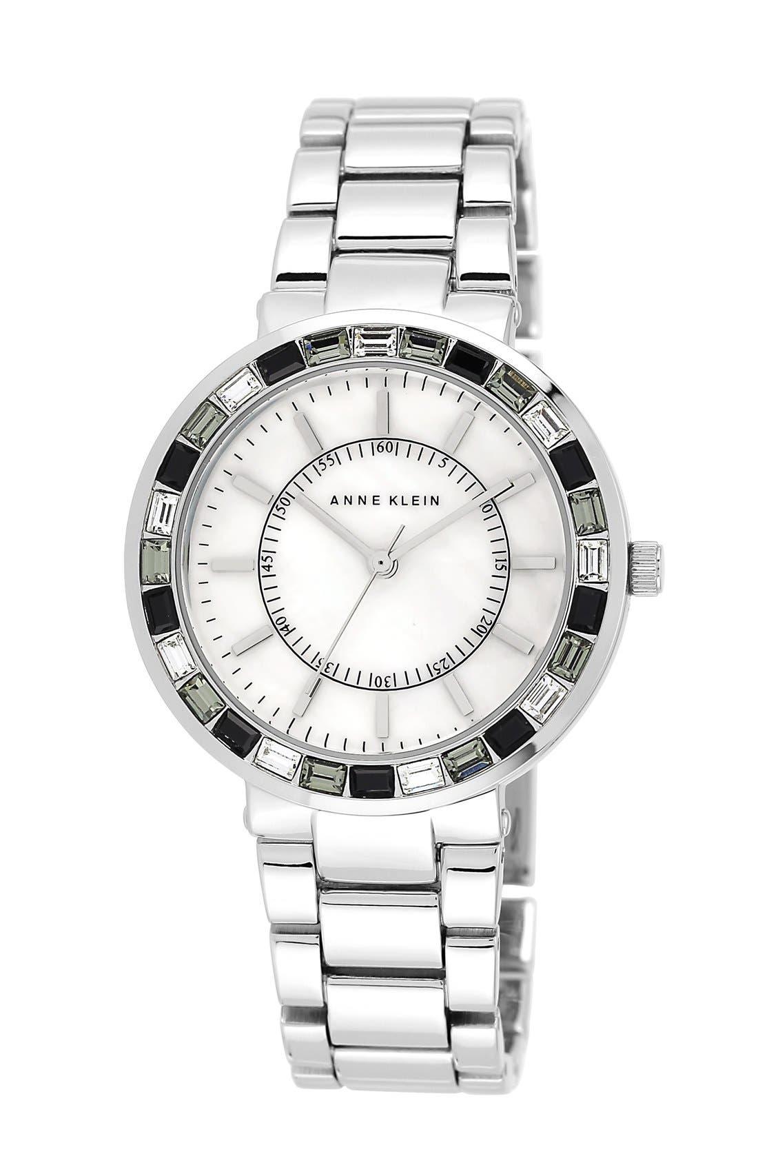 Main Image - Anne Klein Crystal Bezel Bracelet Watch, 32mm