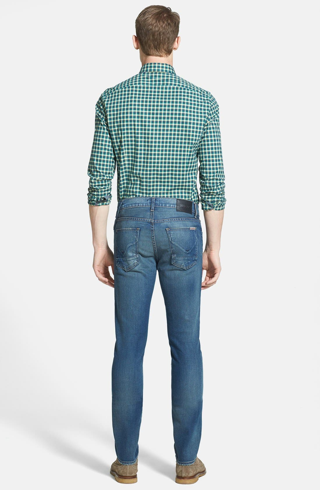 Alternate Image 5  - Kenneth Cole Collection Check Print Sport Shirt