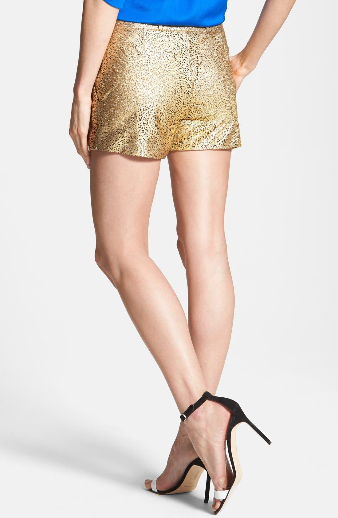 Alternate Image 2  - Diane von Furstenberg 'Naples' Laser Cut Leather Shorts