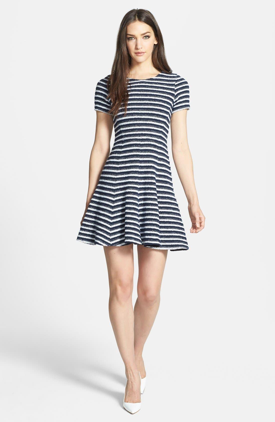 Alternate Image 1 Selected - Theory 'Albita' Bouclé A-Line Dress
