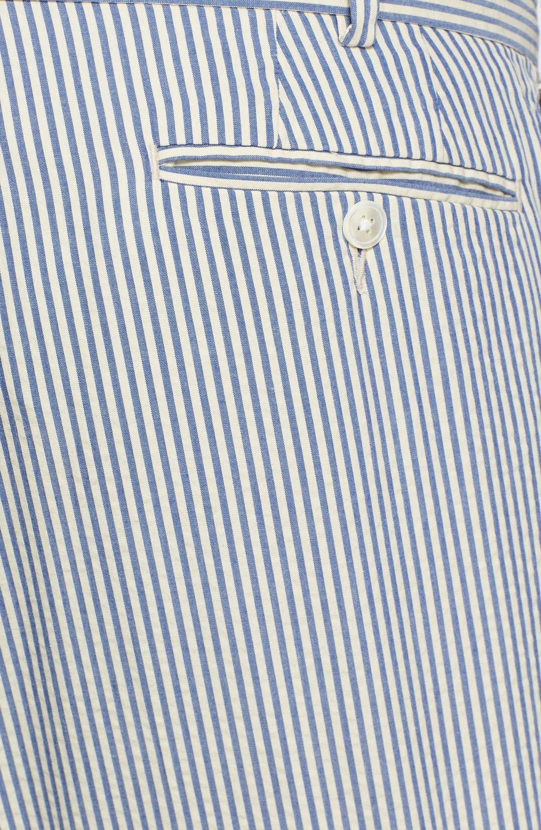 Alternate Image 3  - Polo Ralph Lauren Straight Fit Cotton Seersucker Shorts