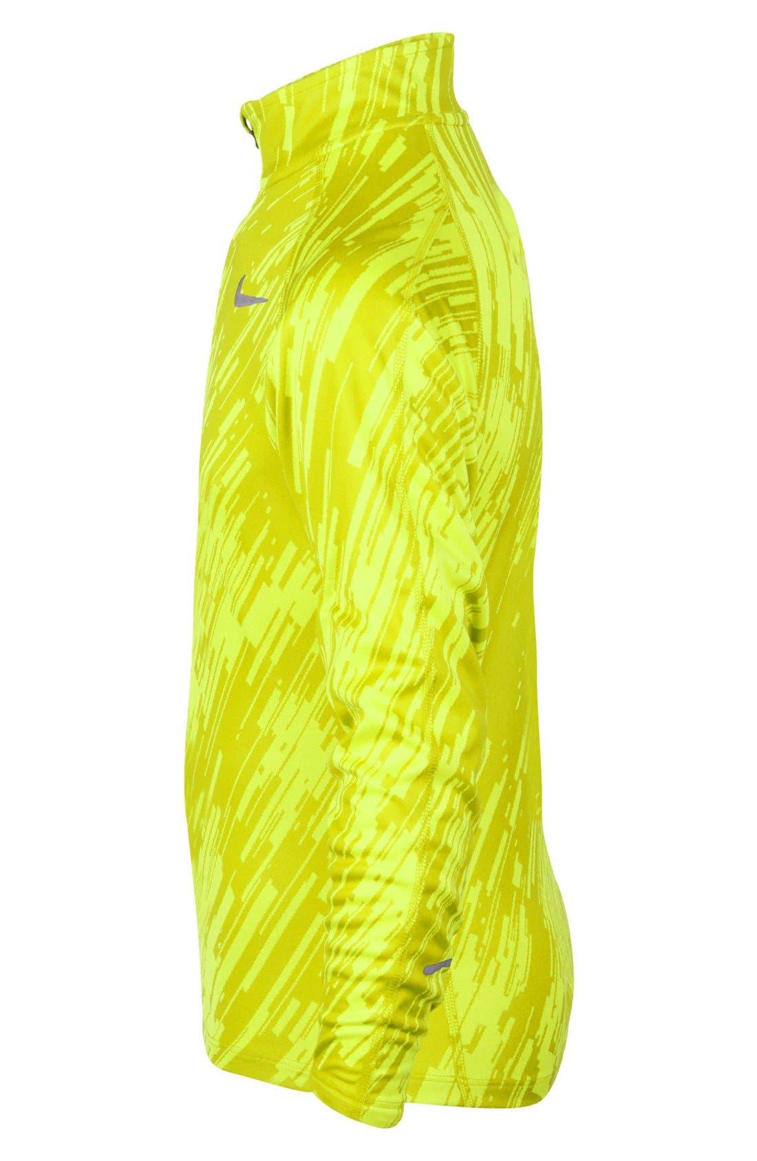 Alternate Image 4  - Nike 'Element' Jacquard Half Zip Running Top (Big Boys)