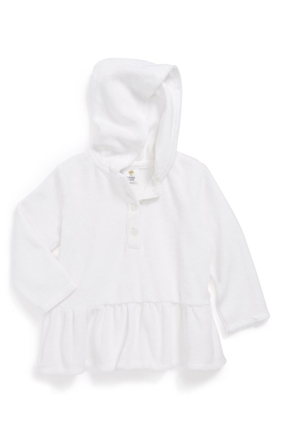Alternate Image 1 Selected - Tucker + Tate Hooded Terry Cloth Cover-Up (Baby Girls)