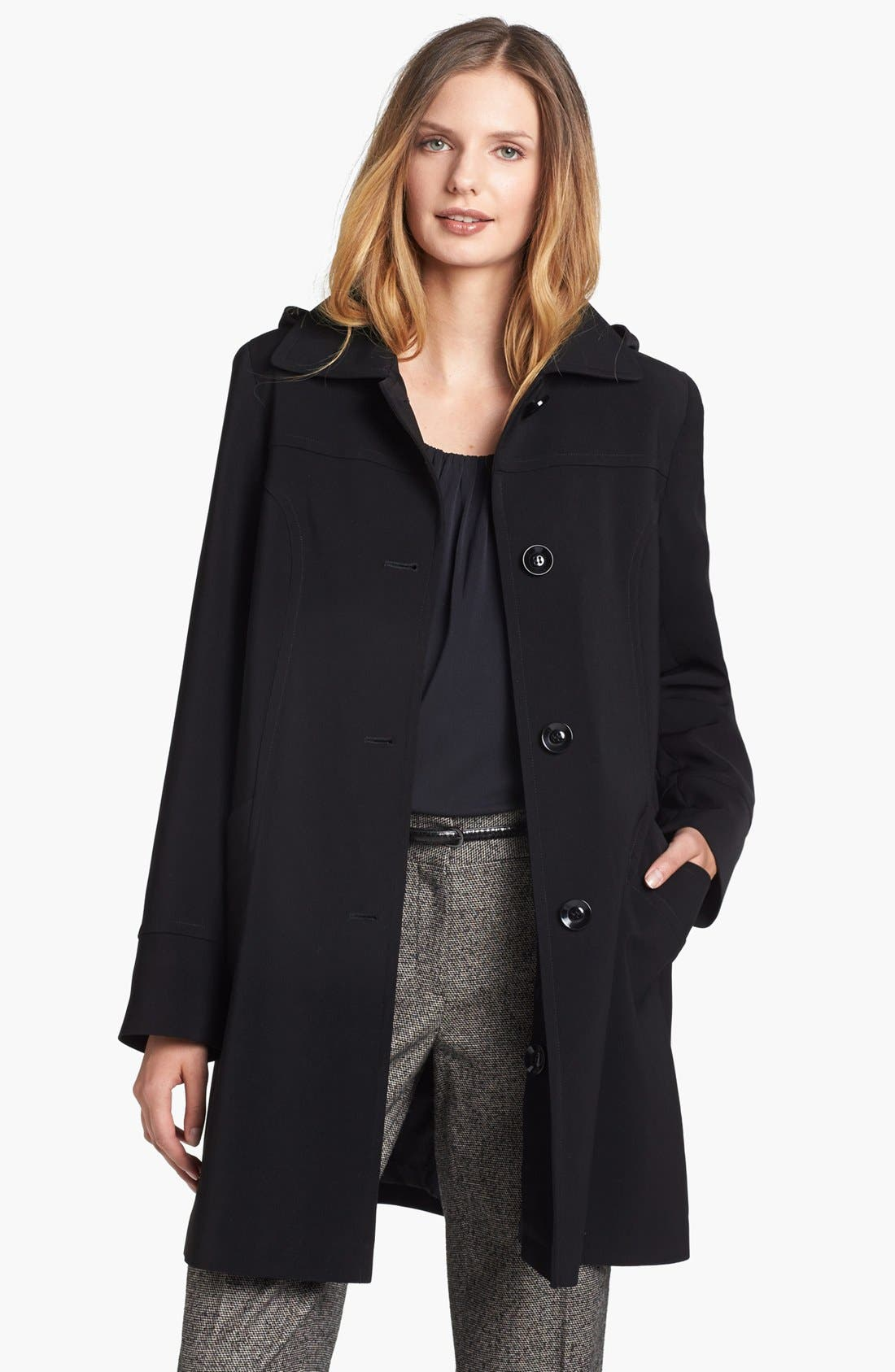 Alternate Image 1 Selected - Gallery 'Nepage' Coat with Detachable Hood & Liner (Petite) (Online Only)